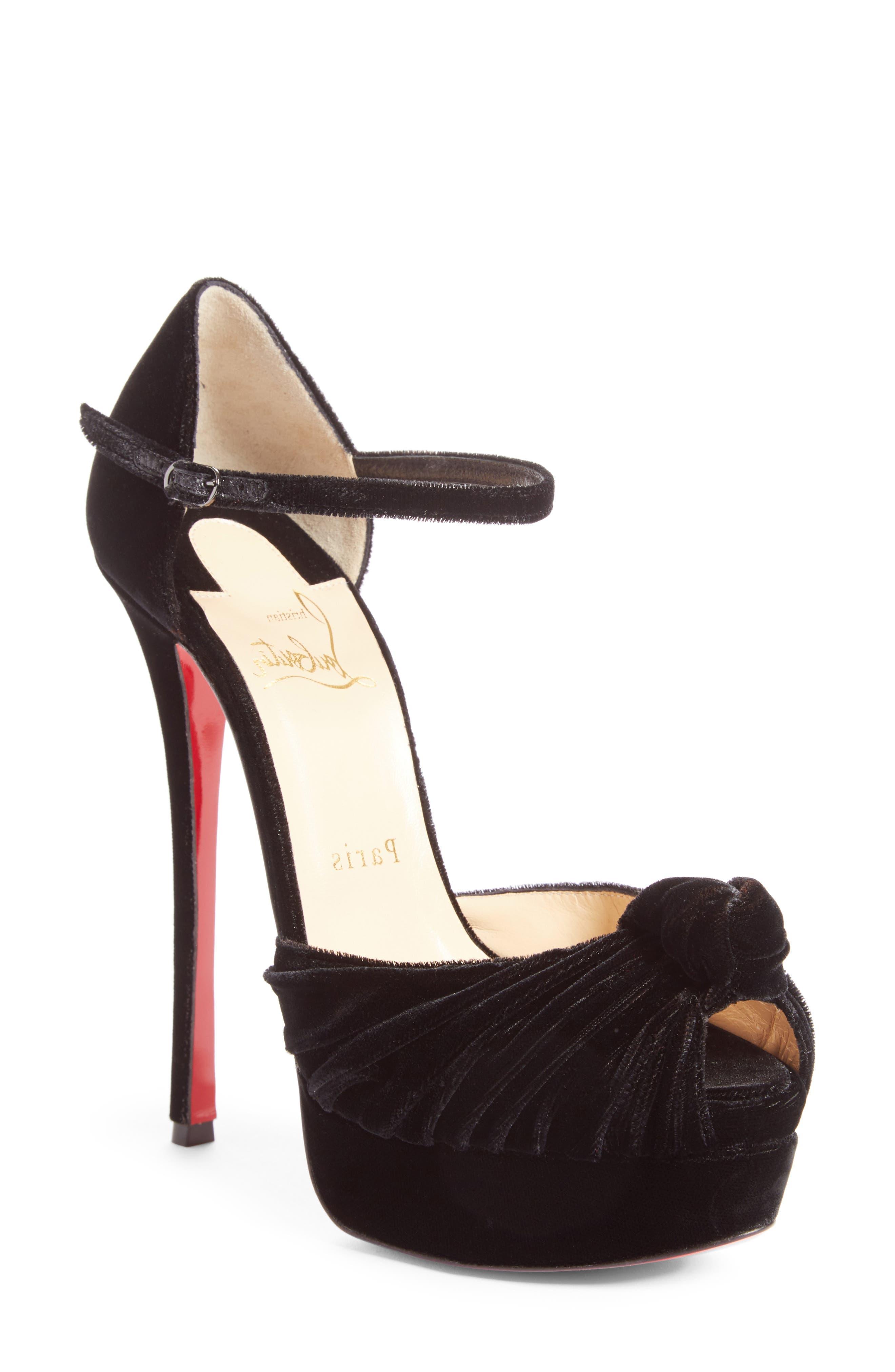 Christian Louboutin Marchavekel Ankle Strap Platform Sandal (Women)