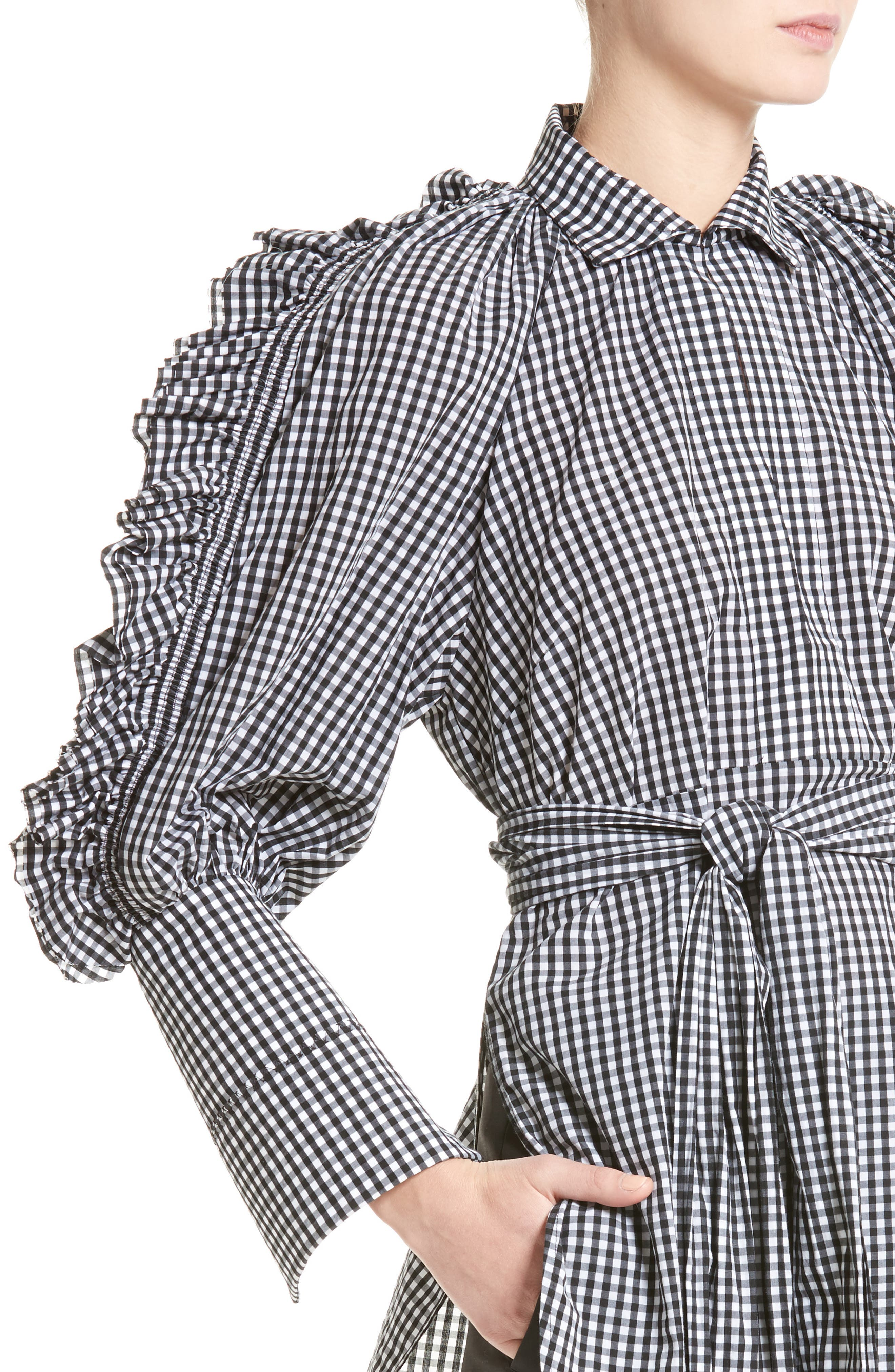 Alternate Image 6  - ELLERY Angel Face Waxed Gingham Top