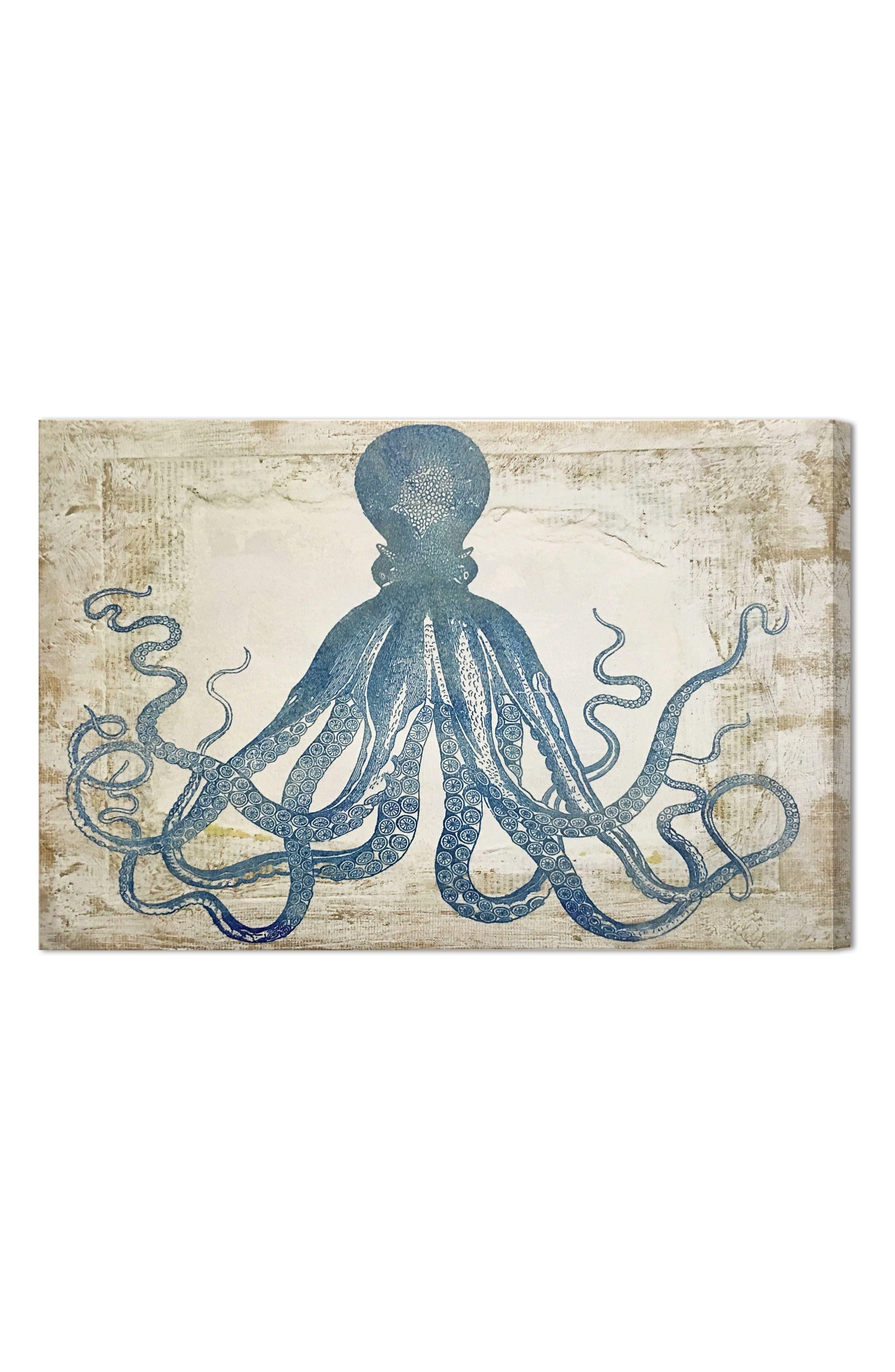 Main Image - Wynwood Blue Squid Canvas Wall Art