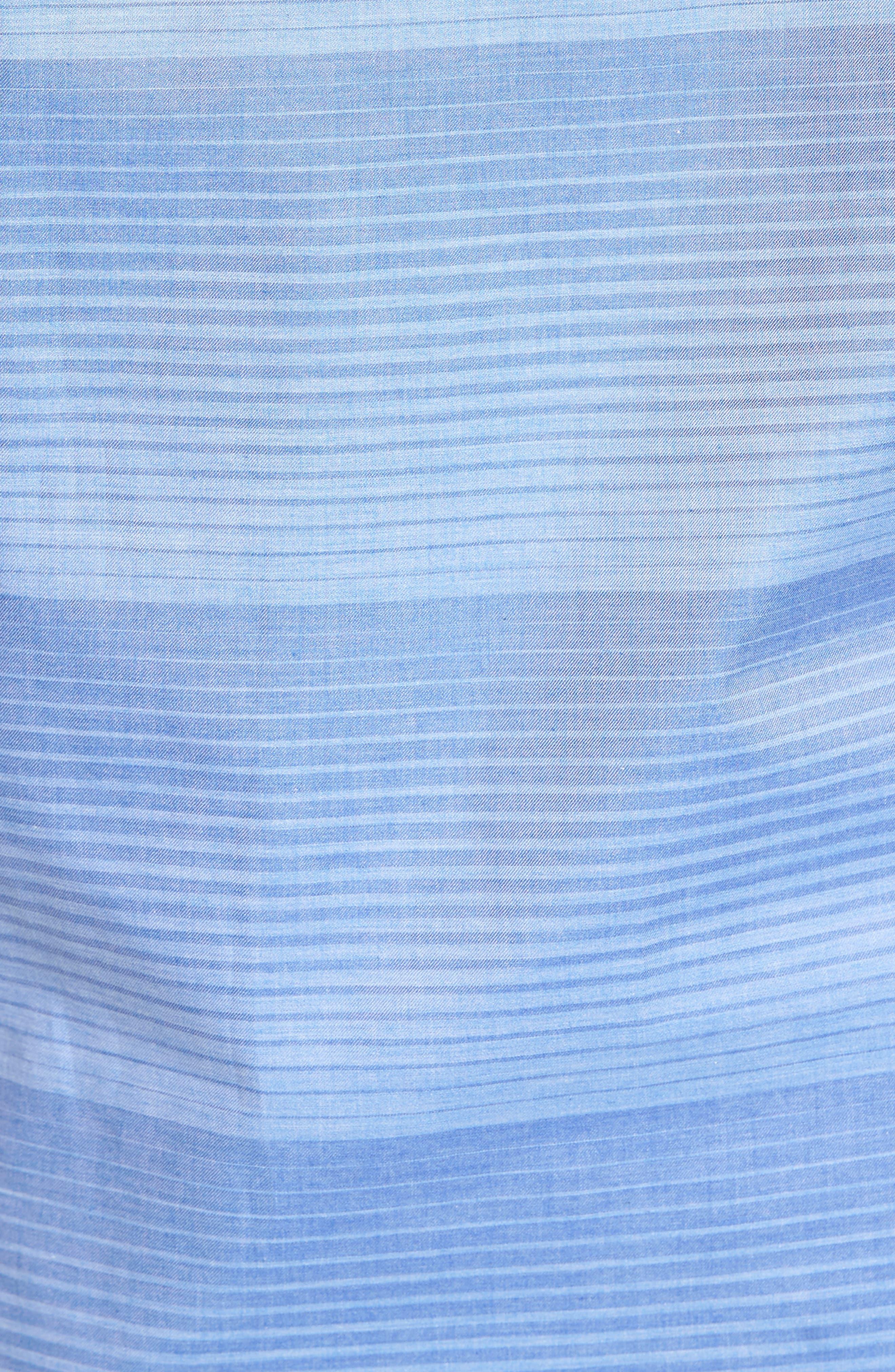 Alternate Image 5  - Thomas Dean Classic Fit Graduated Stripe Sport Shirt