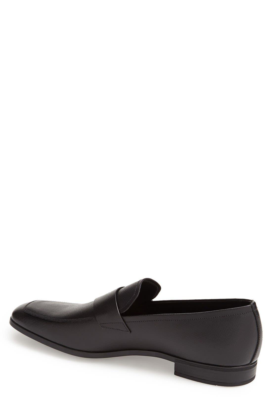 Alternate Image 2  - Prada Saffiano Leather Penny Loafer (Men)