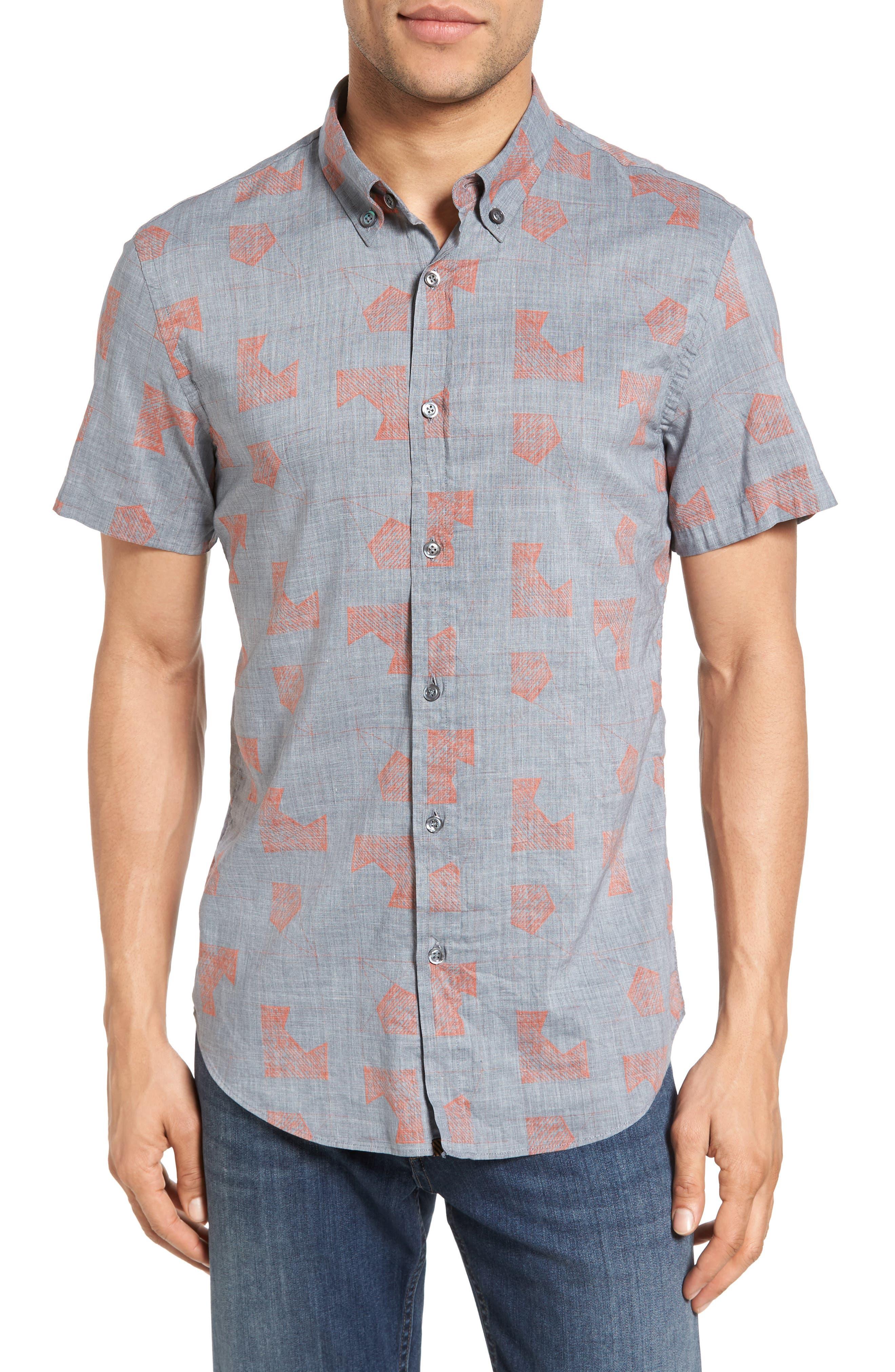 BILLY REID Murphy Standard Fit Short Sleeve Sport Shirt