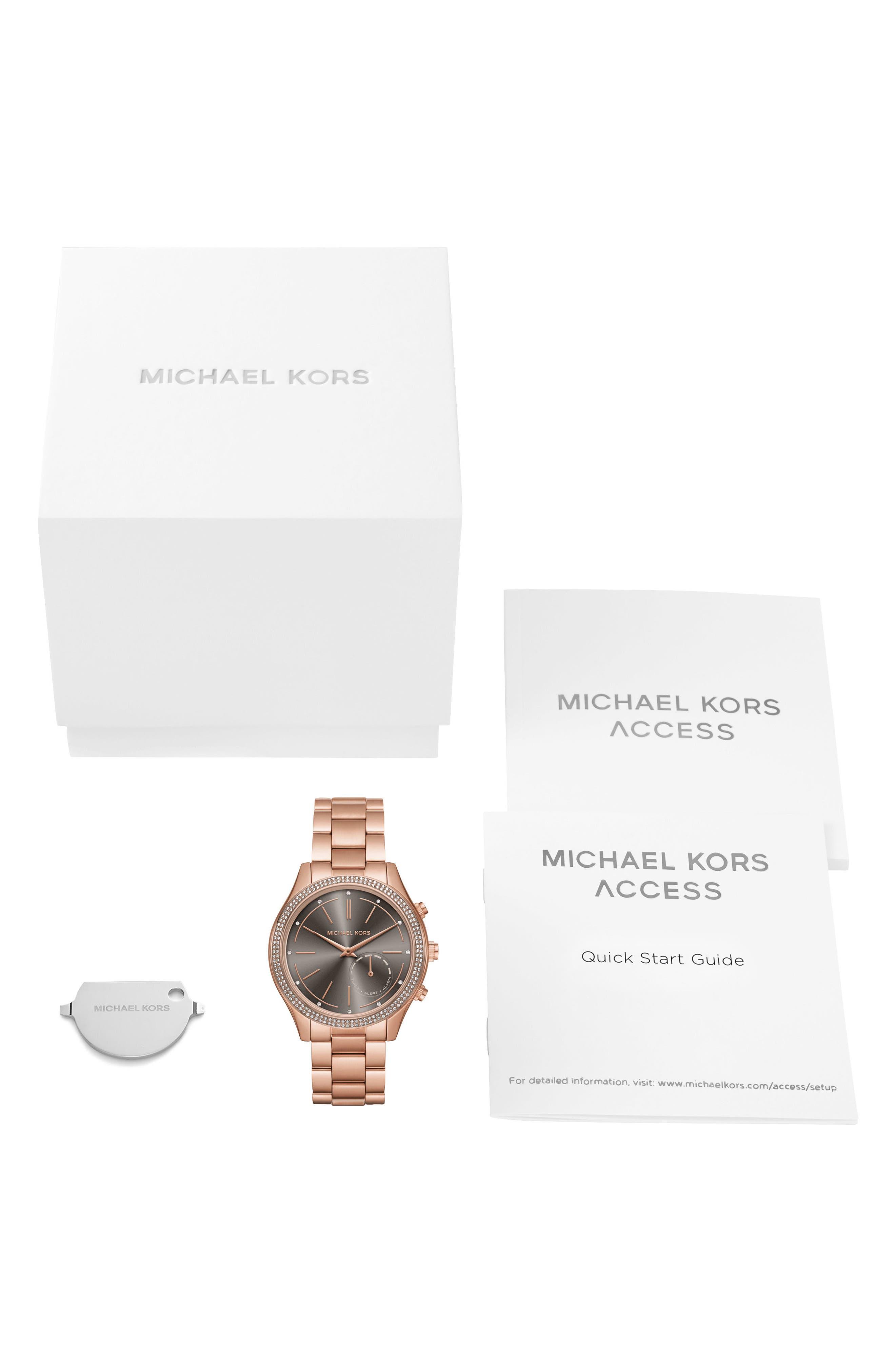 Access Smart Bracelet Watch, 42mm,                             Alternate thumbnail 5, color,                             Rose Gold/ Grey/ Rose Gold