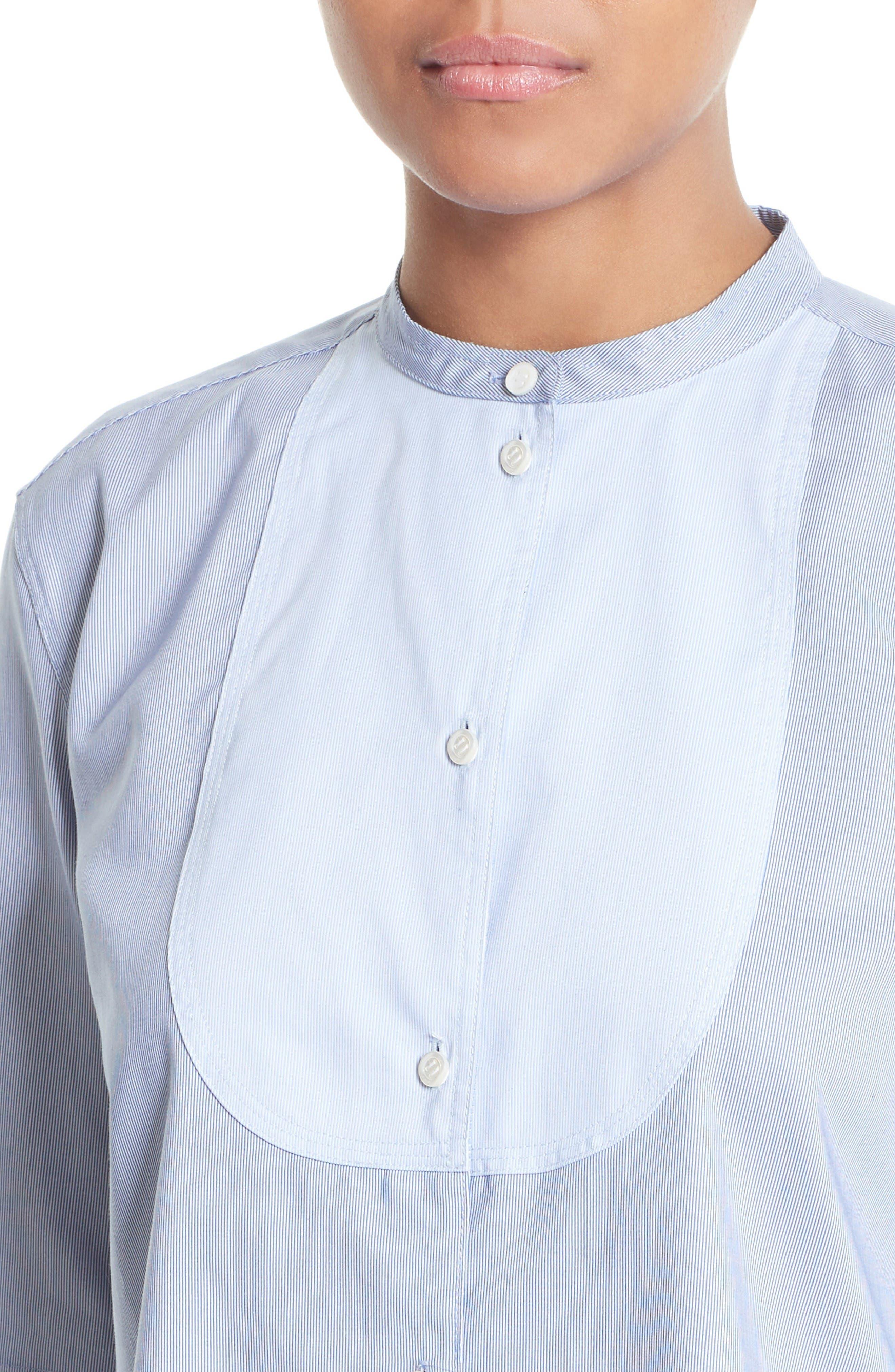 Alternate Image 4  - Helmut Lang Ottoman Tuxedo Shirt