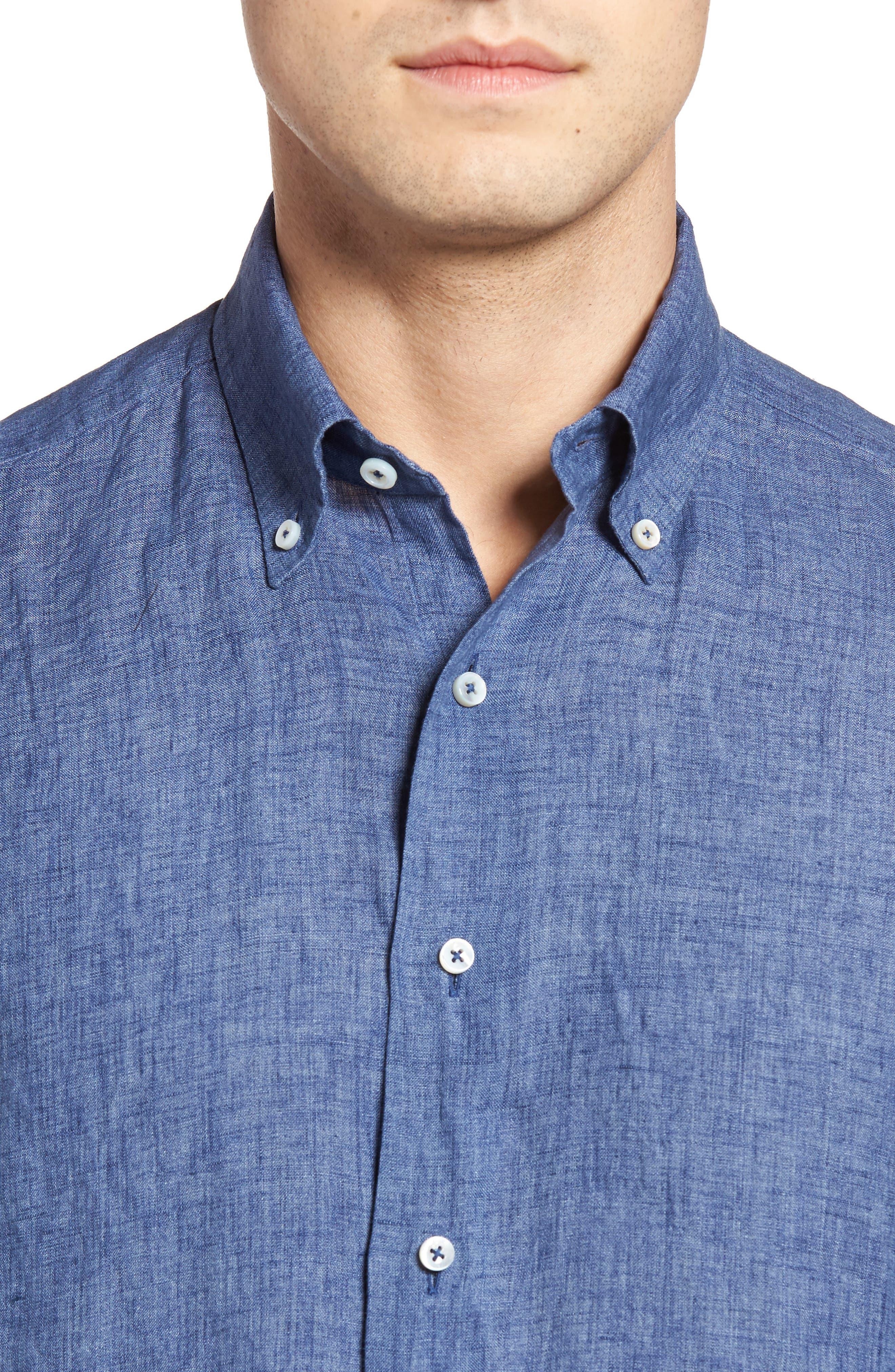 Alternate Image 4  - Robert Talbott Estate Tailored Fit Sport Shirt