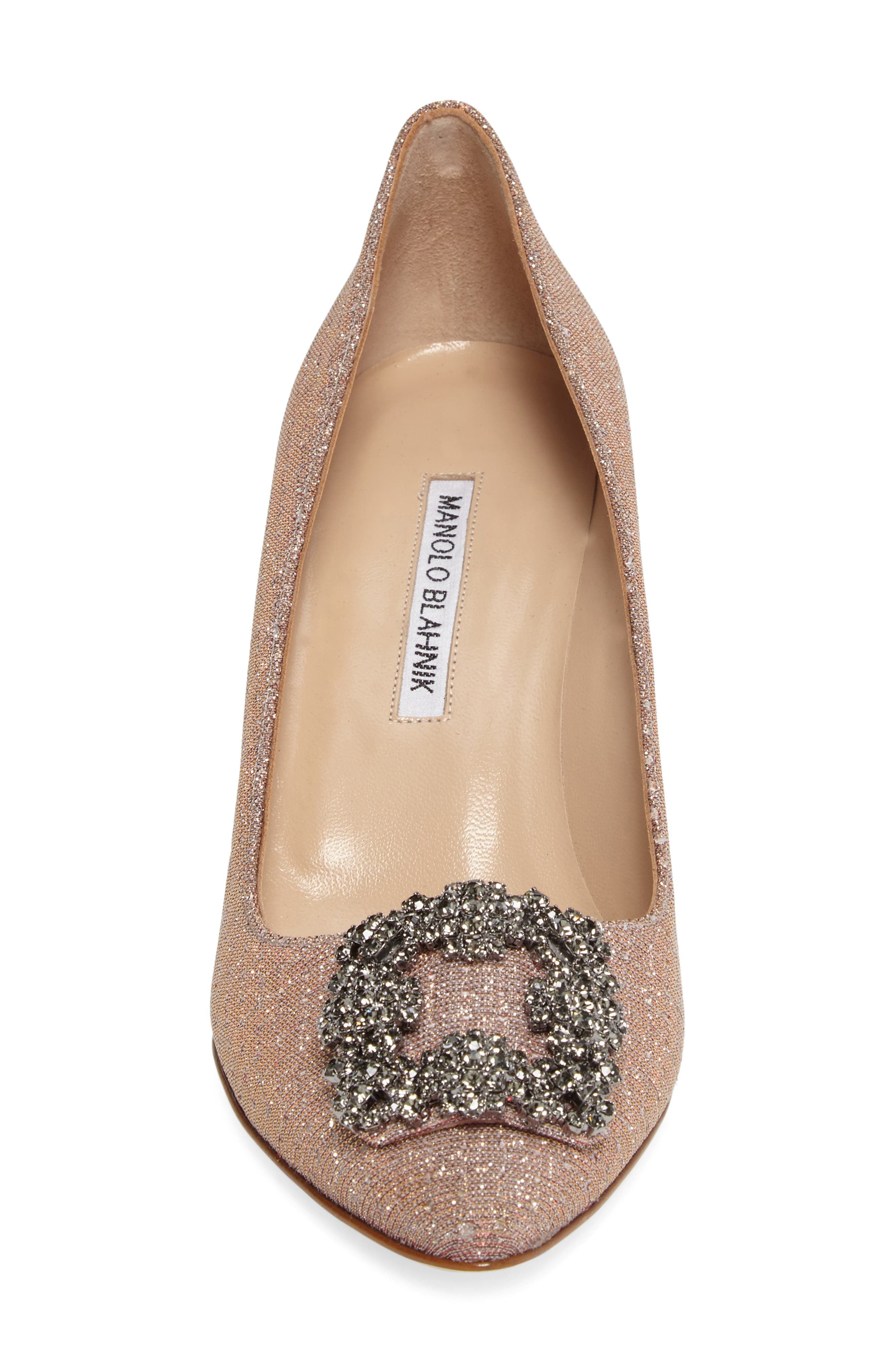 Hangisi Pump,                             Alternate thumbnail 4, color,                             Champagne Fabric