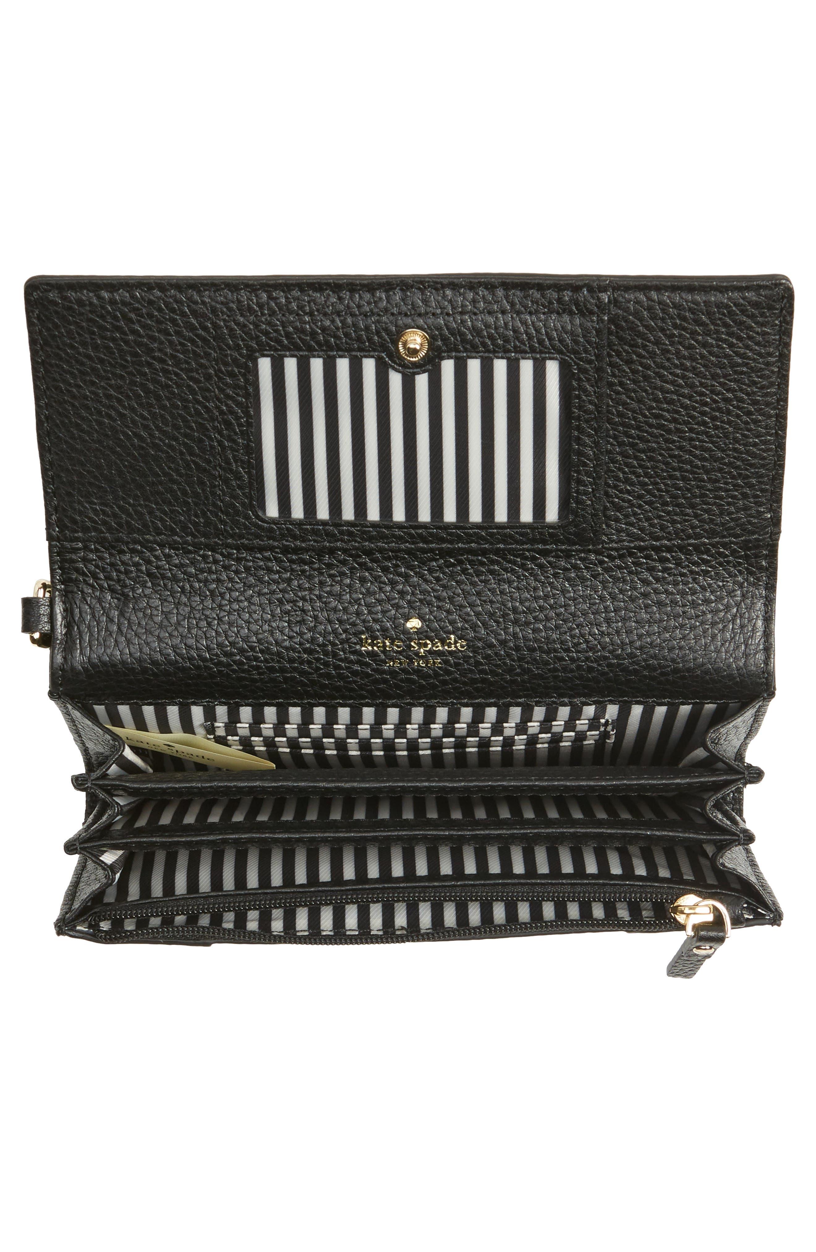 jackson street malorie leather wallet,                             Alternate thumbnail 2, color,                             Black