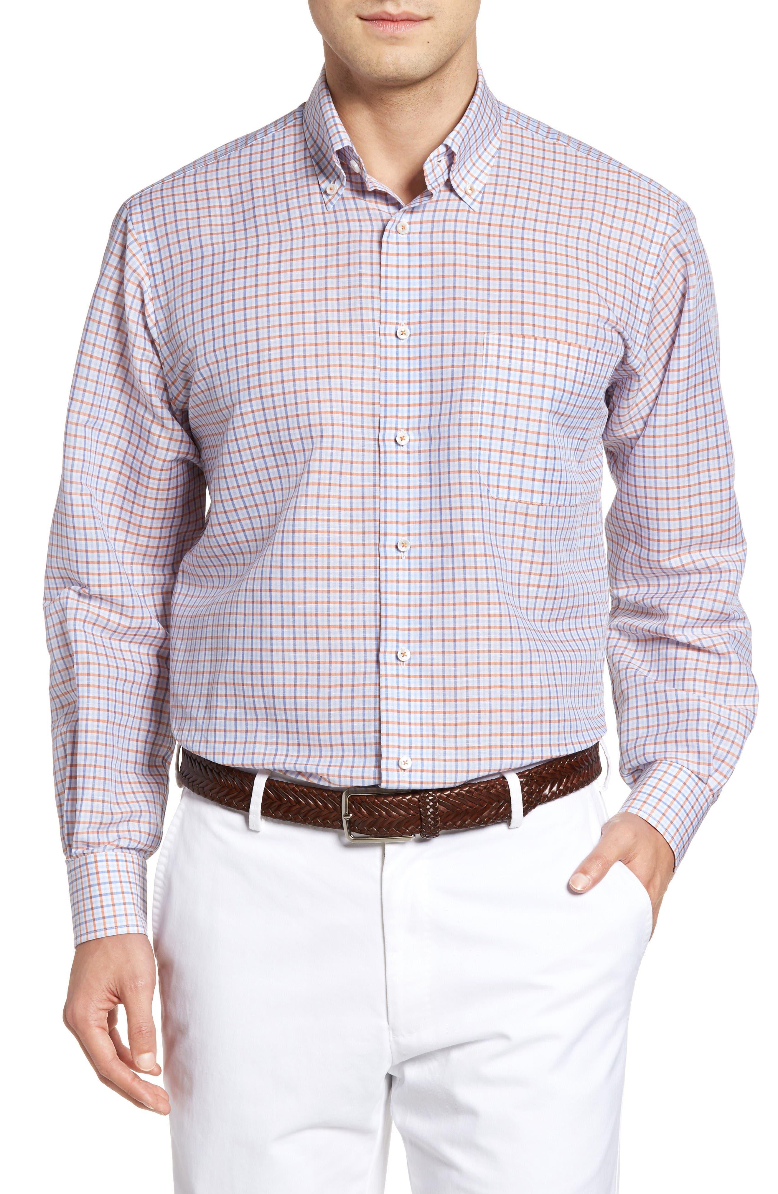Estate Classic Fit Sport Shirt,                         Main,                         color, Pumpkin