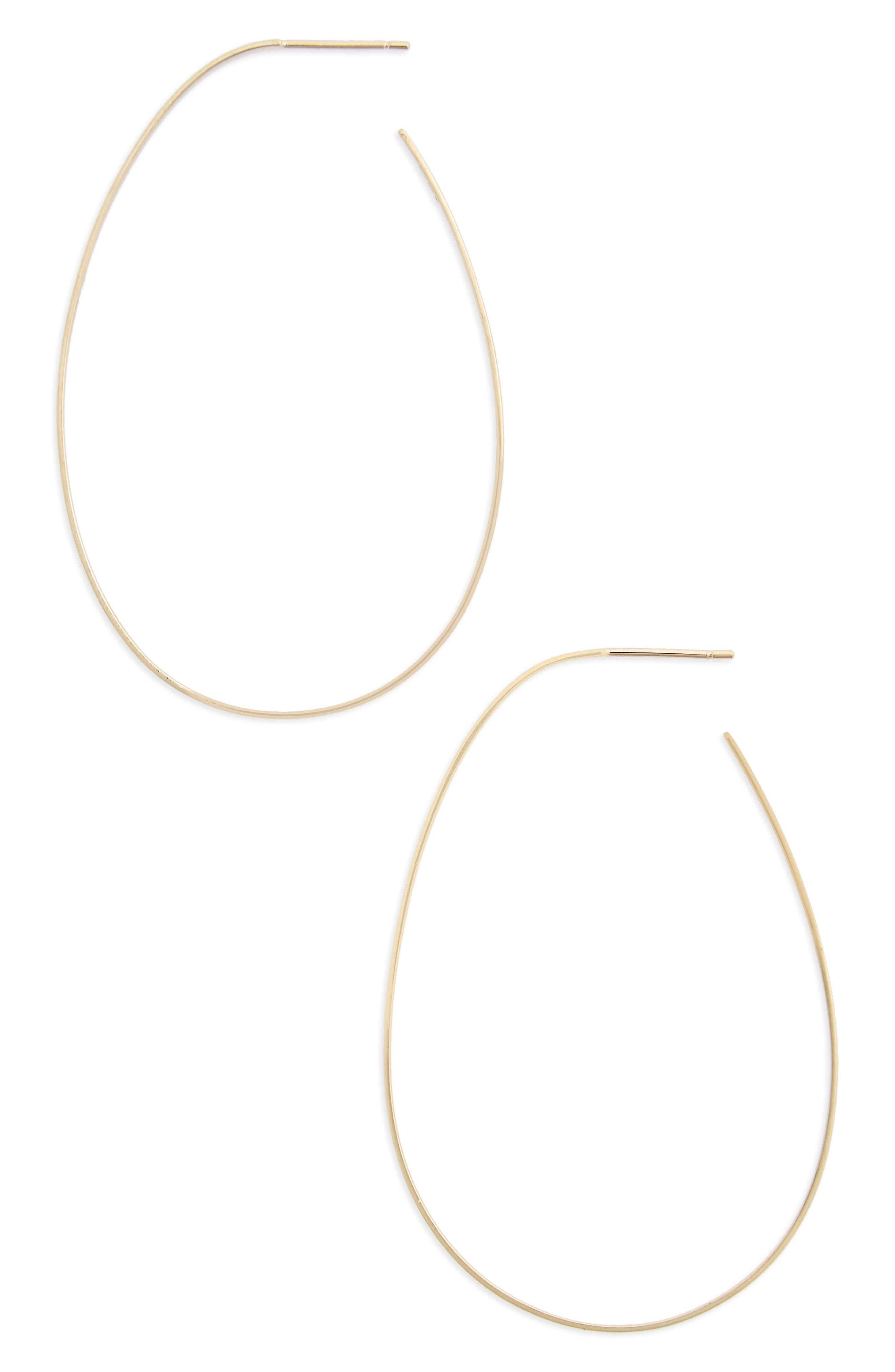 Bond Teardrop Hoop Earrings,                         Main,                         color, Yellow Gold