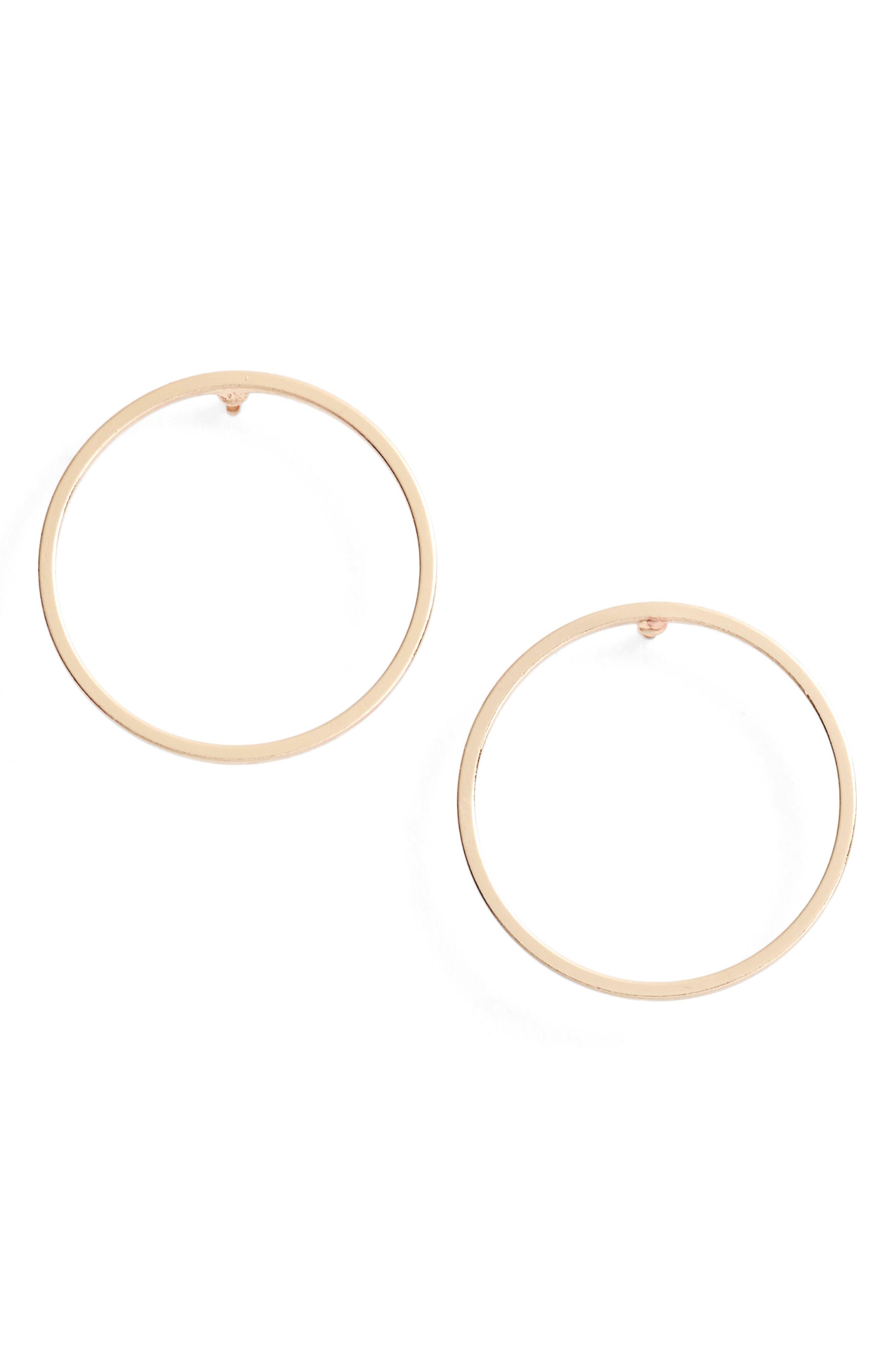 Juliette Circle Earrings,                         Main,                         color, Gold