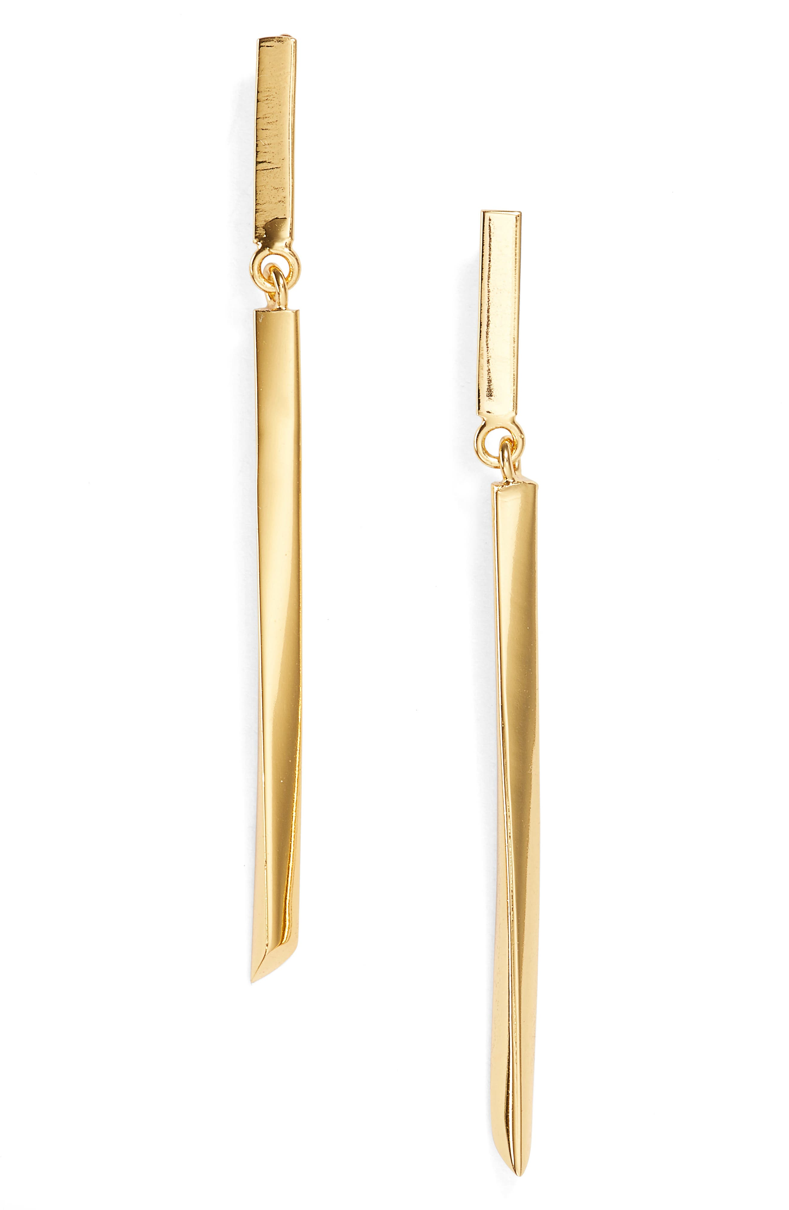 Main Image - Argento Vivo Linear Drop Earrings