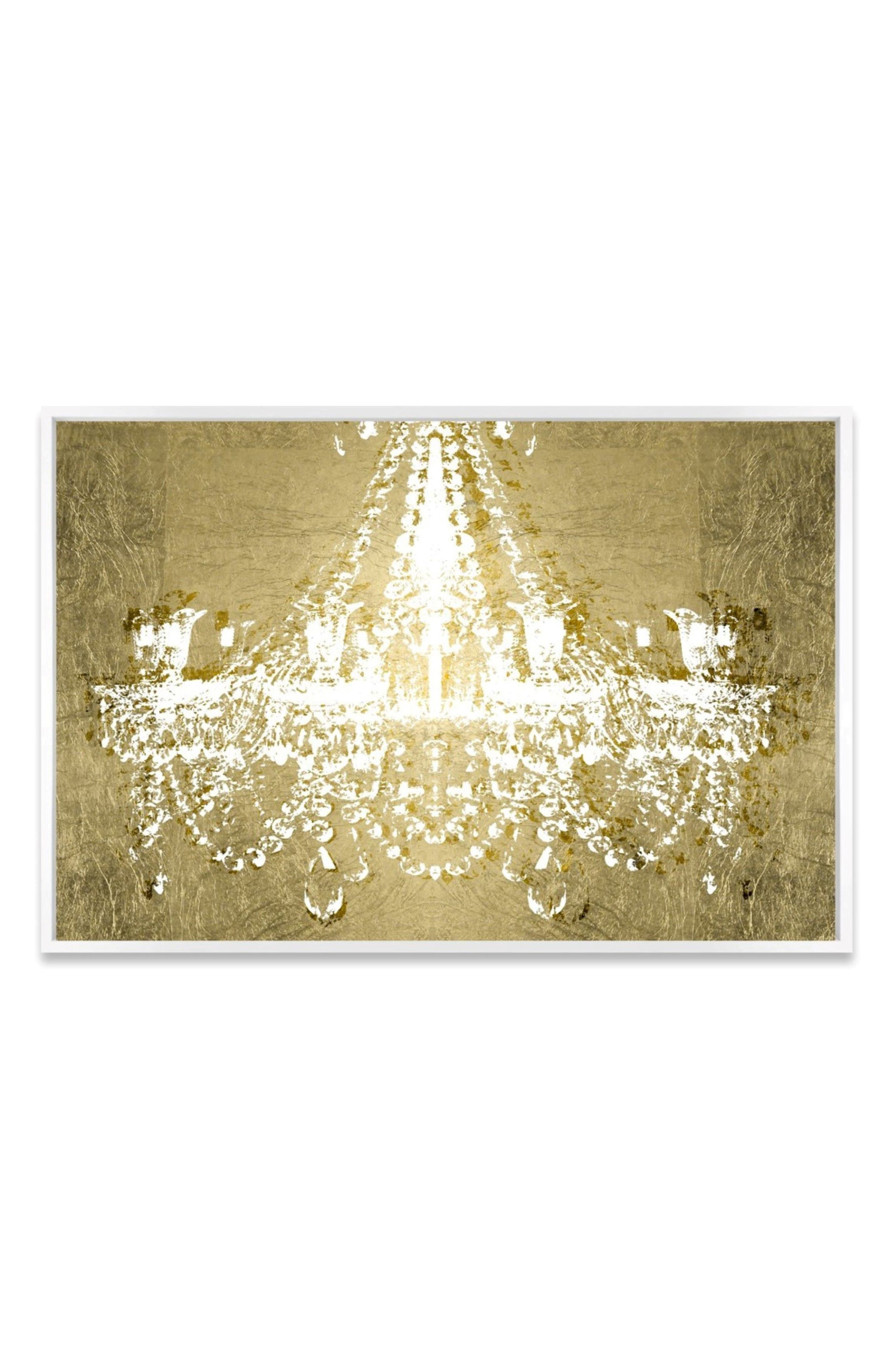Dramatic Entrance Canvas Wall Art,                         Main,                         color, Metallic Gold