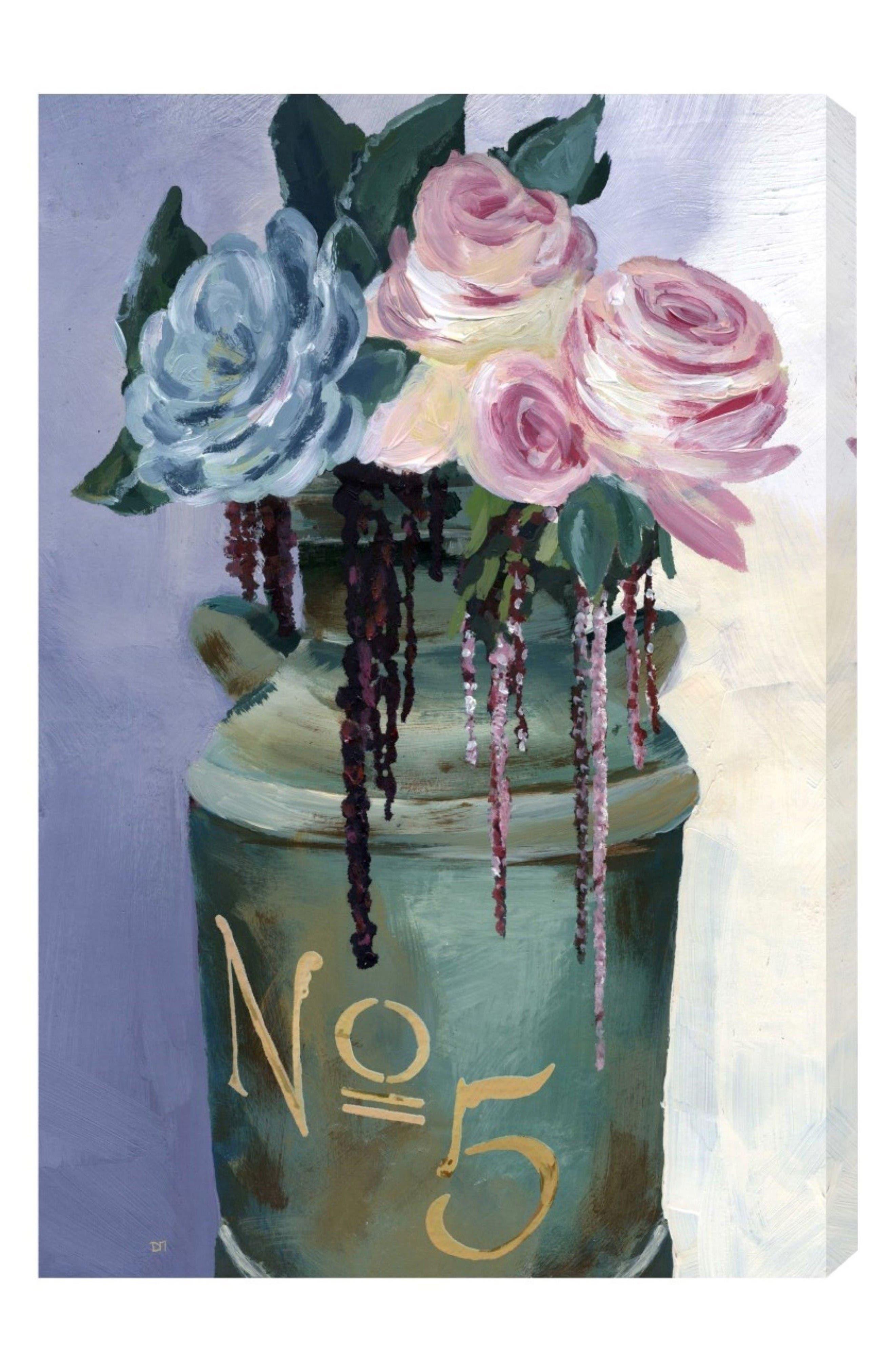 No. 5 Jar Canvas Wall Art,                         Main,                         color, White