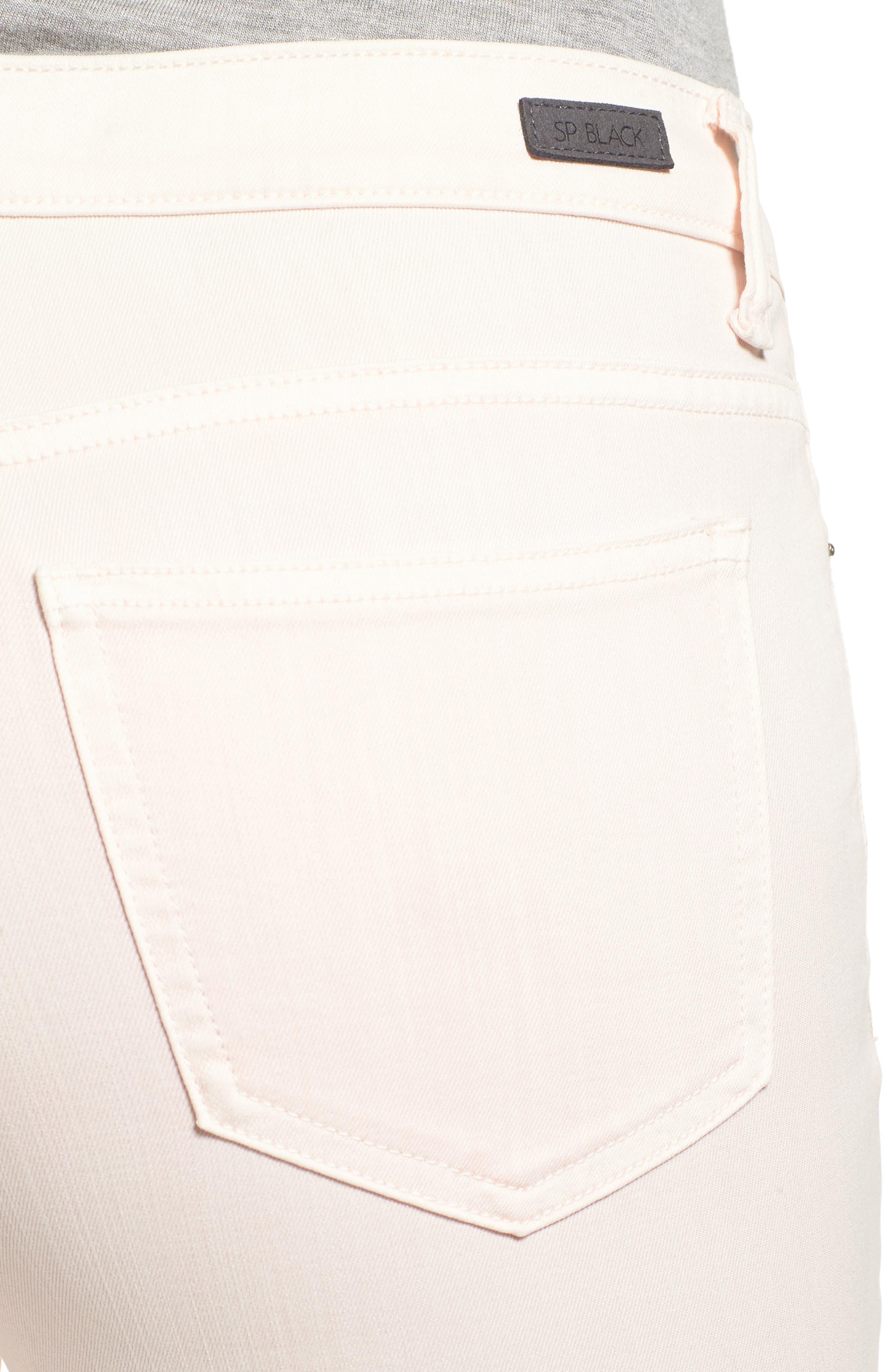 Ripped Skinny Jeans,                             Alternate thumbnail 4, color,                             Blush