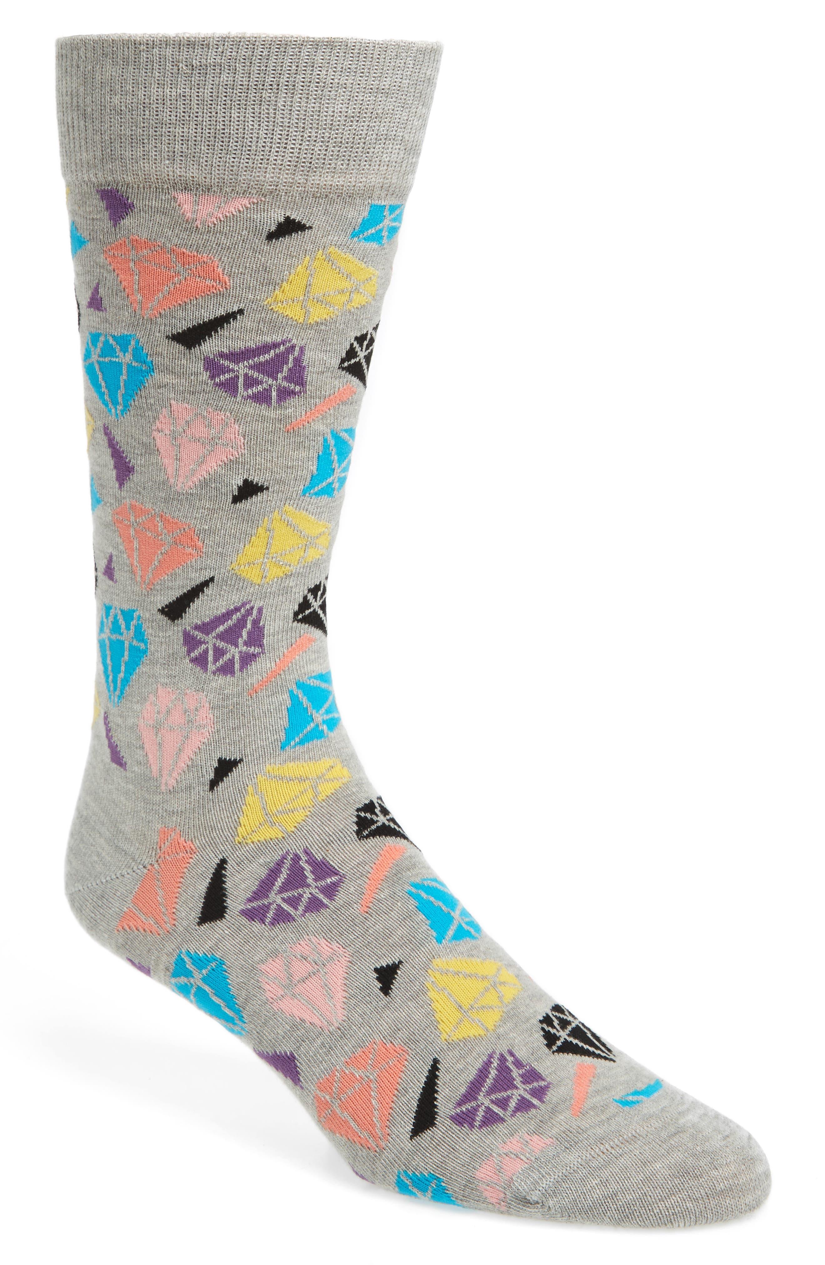 Alternate Image 1 Selected - Happy Socks Diamonds Socks