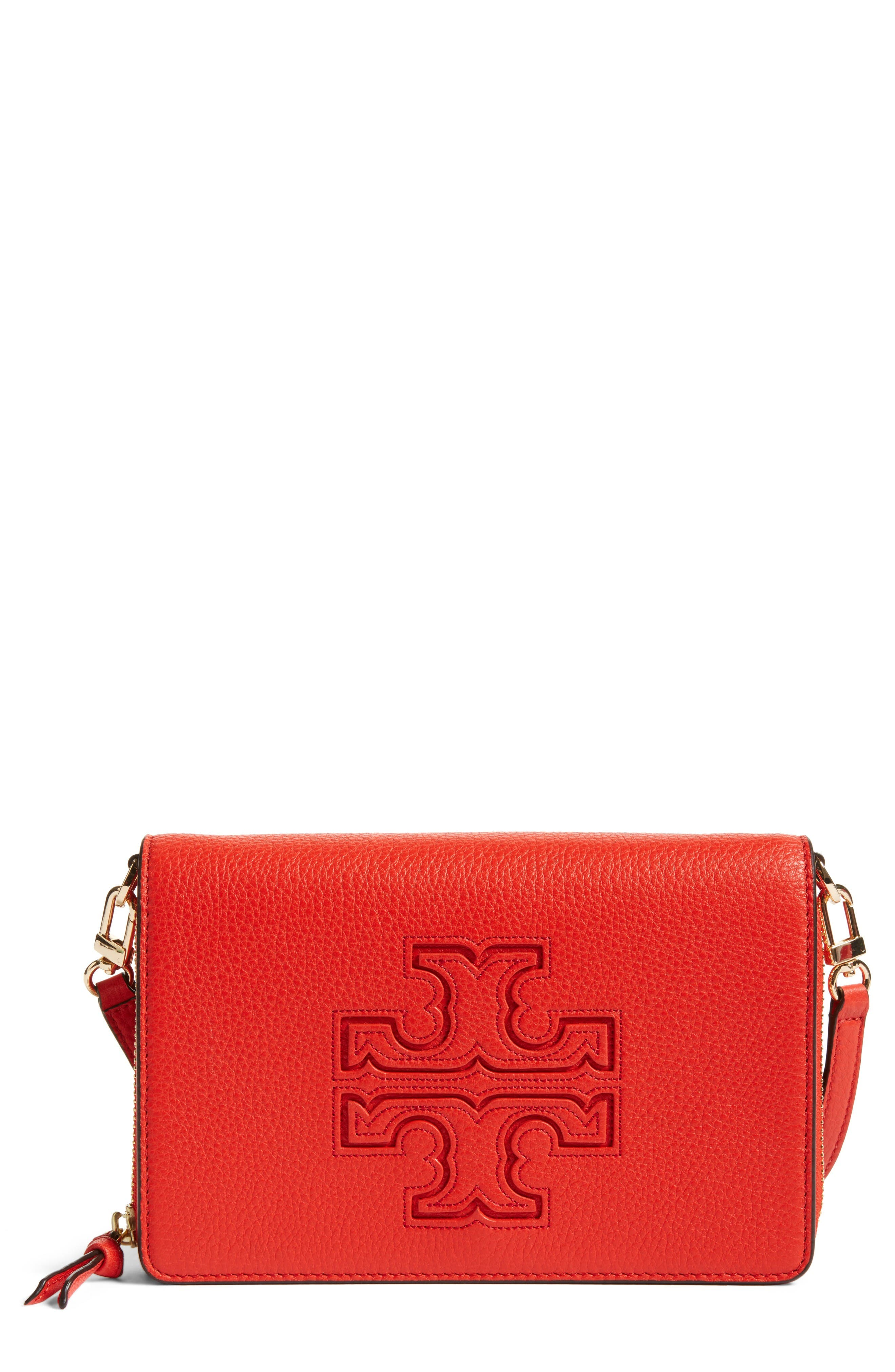 Alternate Image 1 Selected - Tory Burch 'Harper' Pebbled Leather Wallet Crossbody Bag