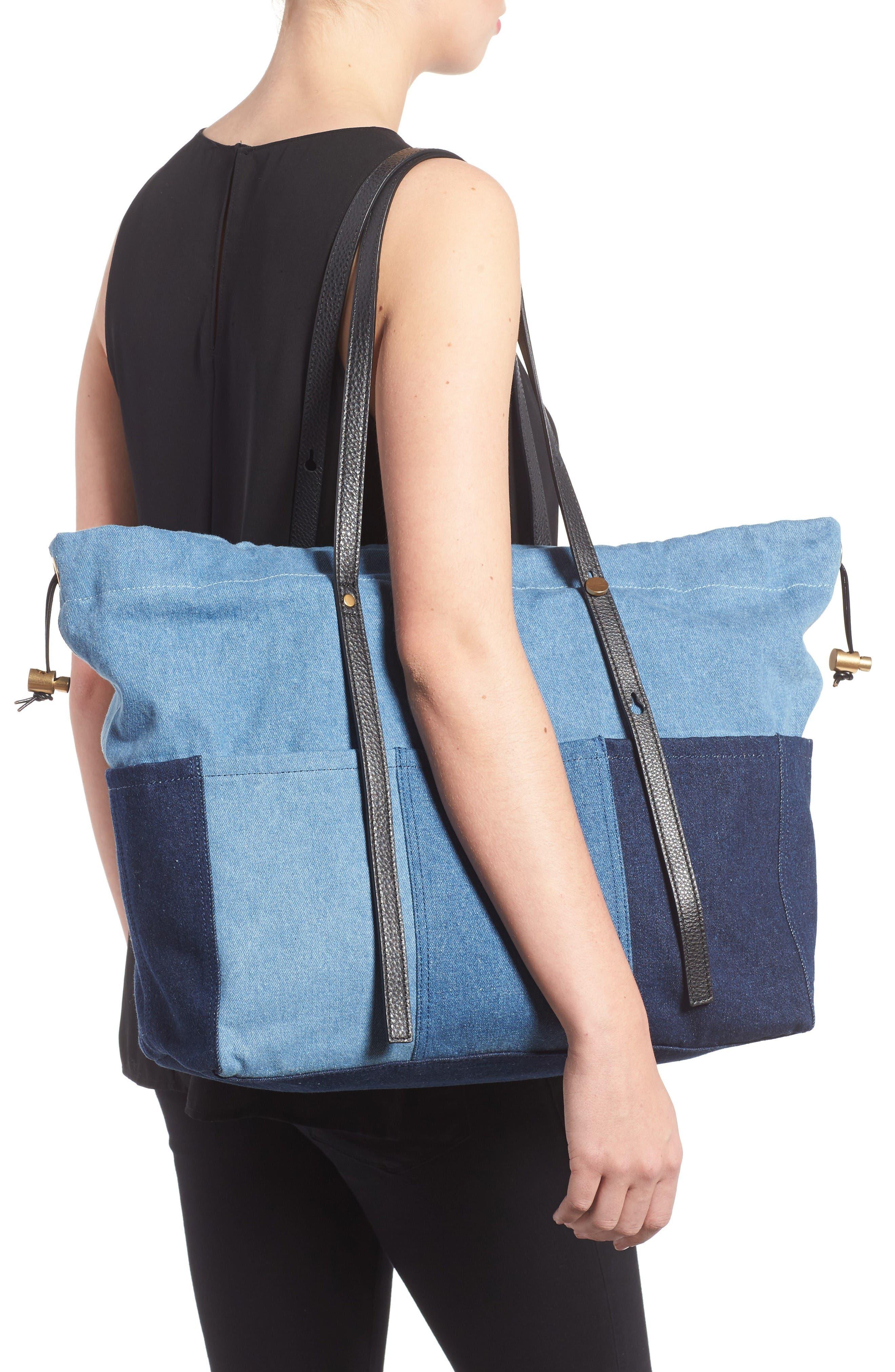Alternate Image 2  - Chloé Denim Diaper Bag