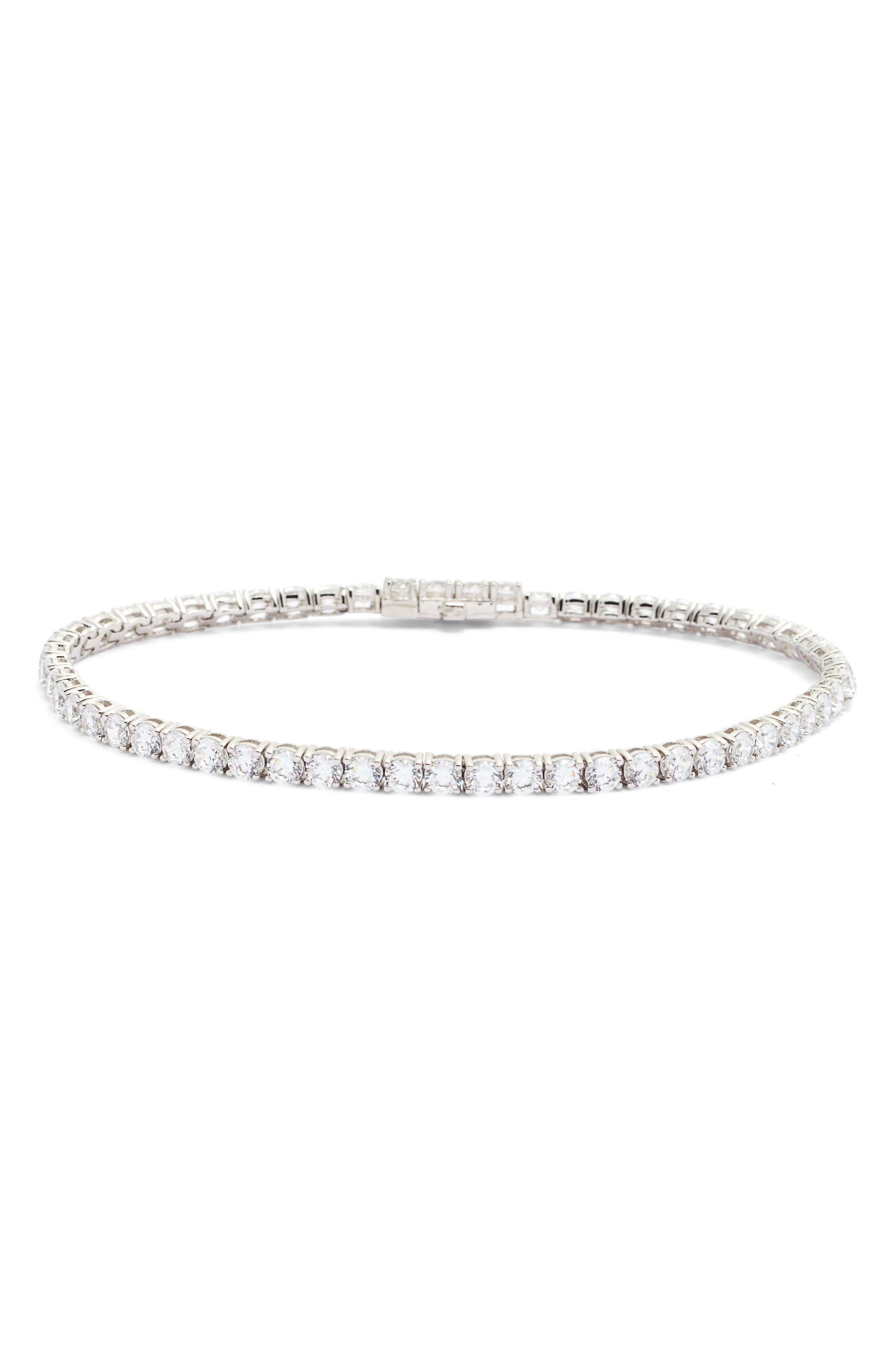 LAFONN Classic Simulated Diamond Tennis Bracelet