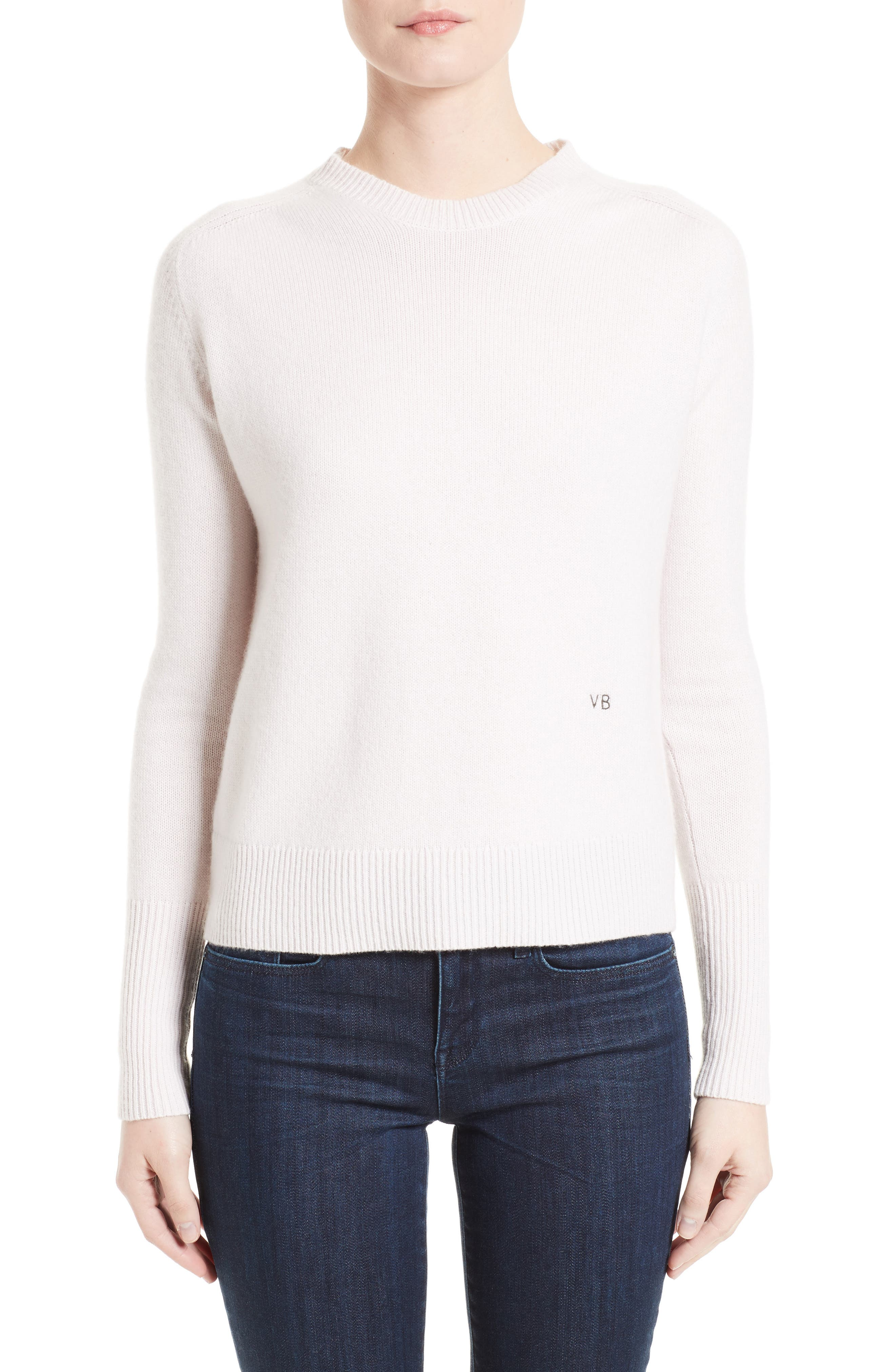 Cashmere Sweater,                             Main thumbnail 1, color,                             Butter