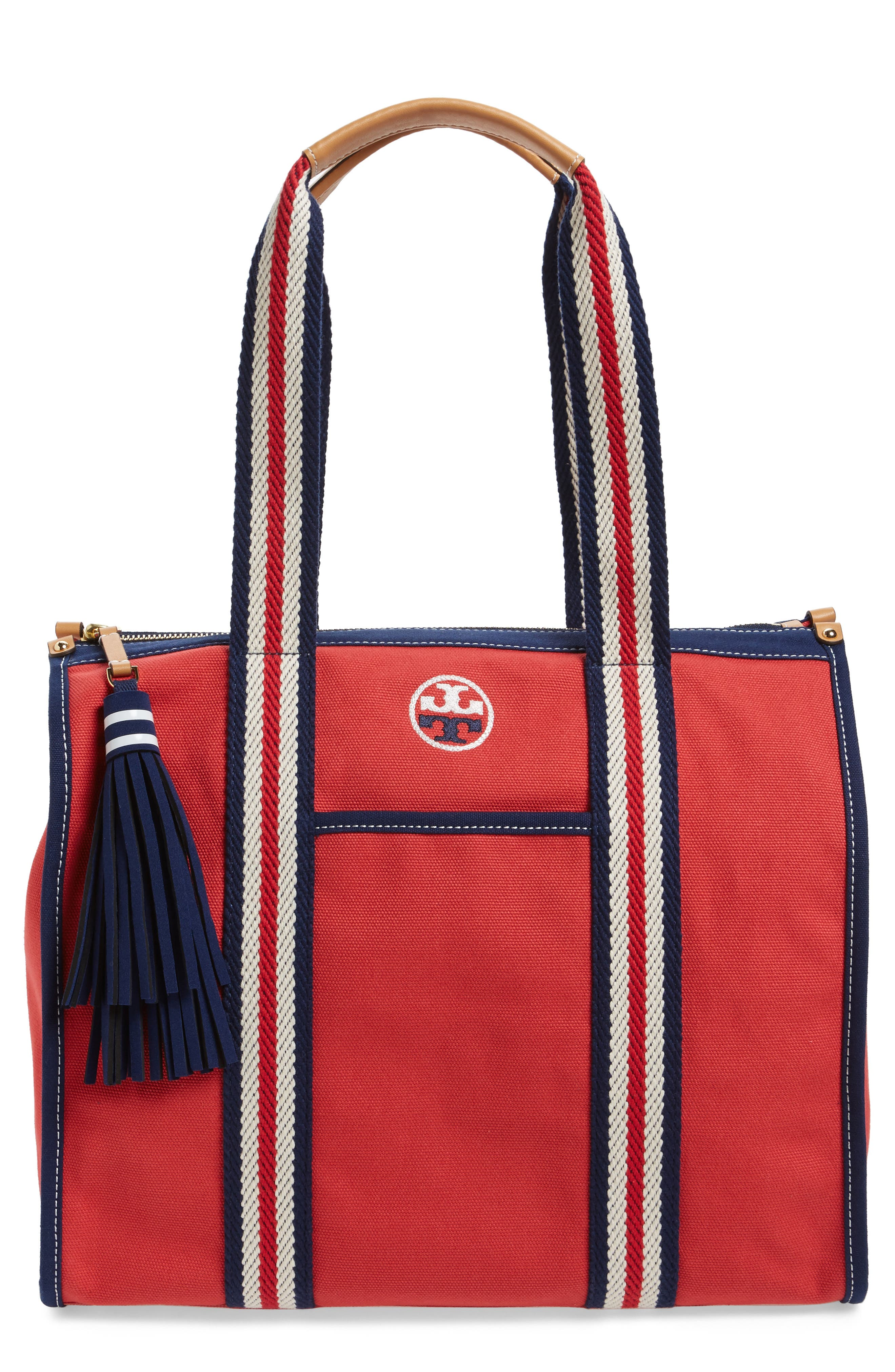 Alternate Image 1 Selected - Tory Burch Preppy Canvas Tote