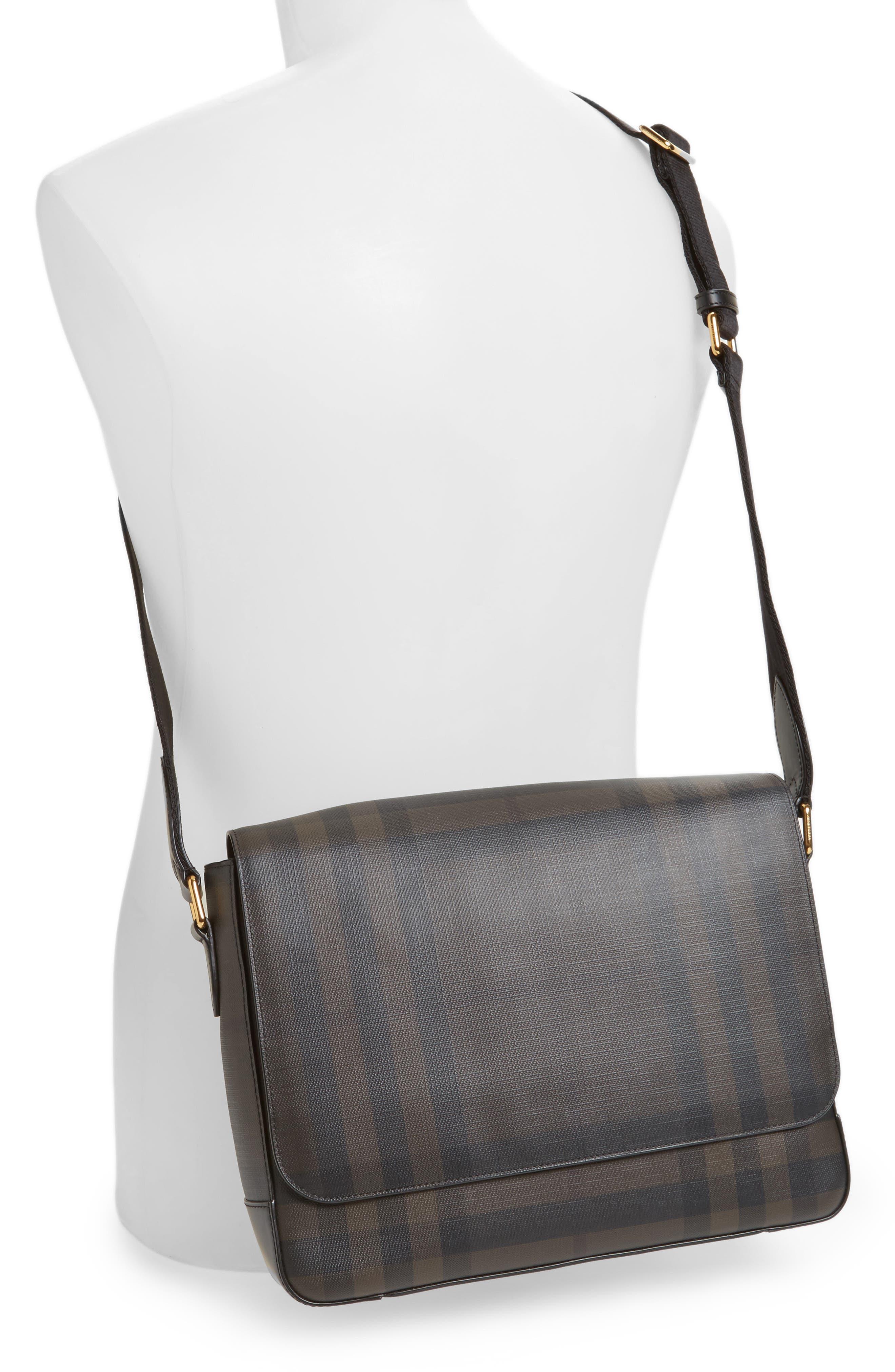 Edgware Check Messenger Bag,                             Alternate thumbnail 2, color,                             Chocolate/ Black