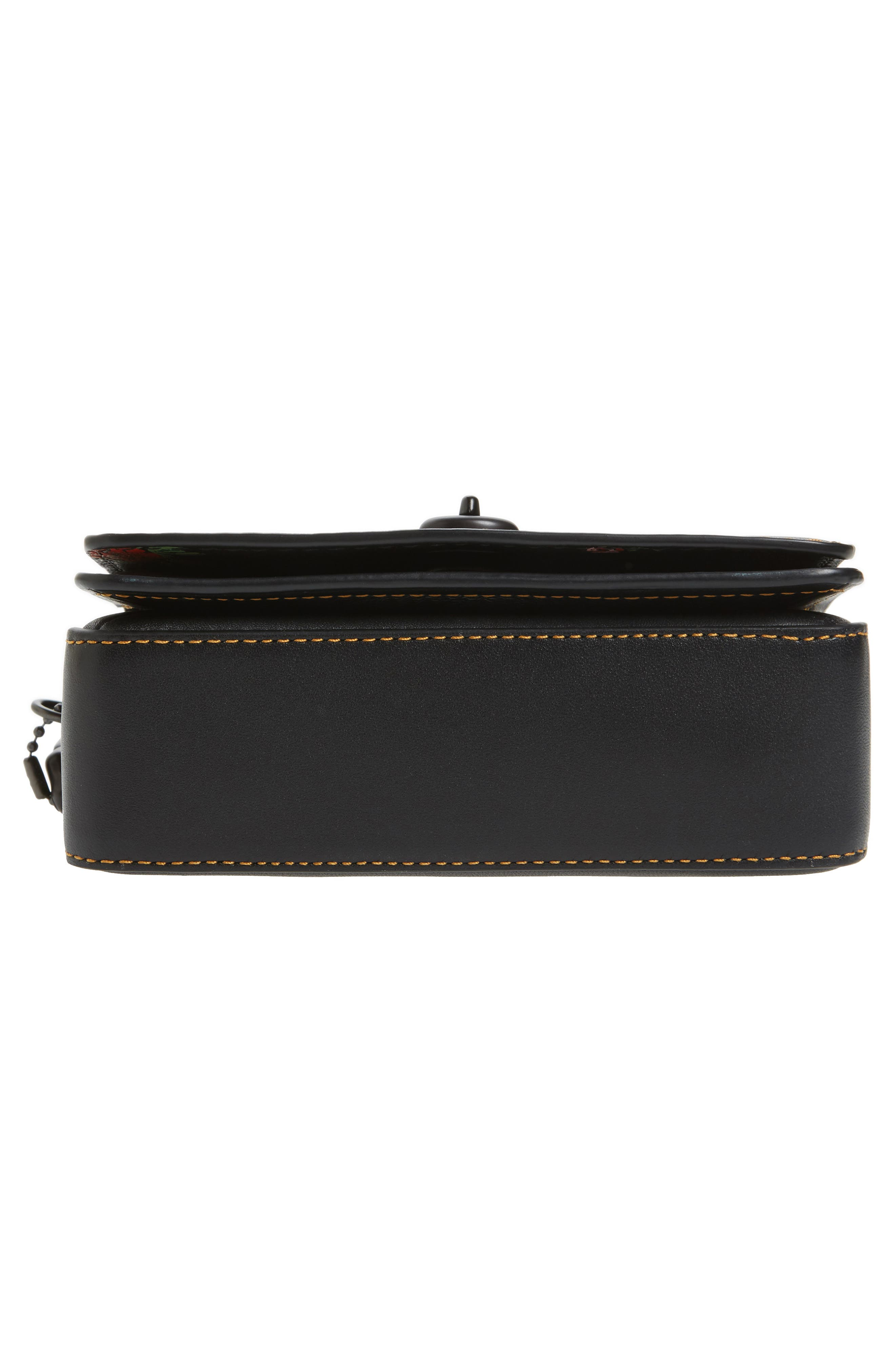 Dinky 15 Leather Crossbody Bag,                             Alternate thumbnail 6, color,                             Black