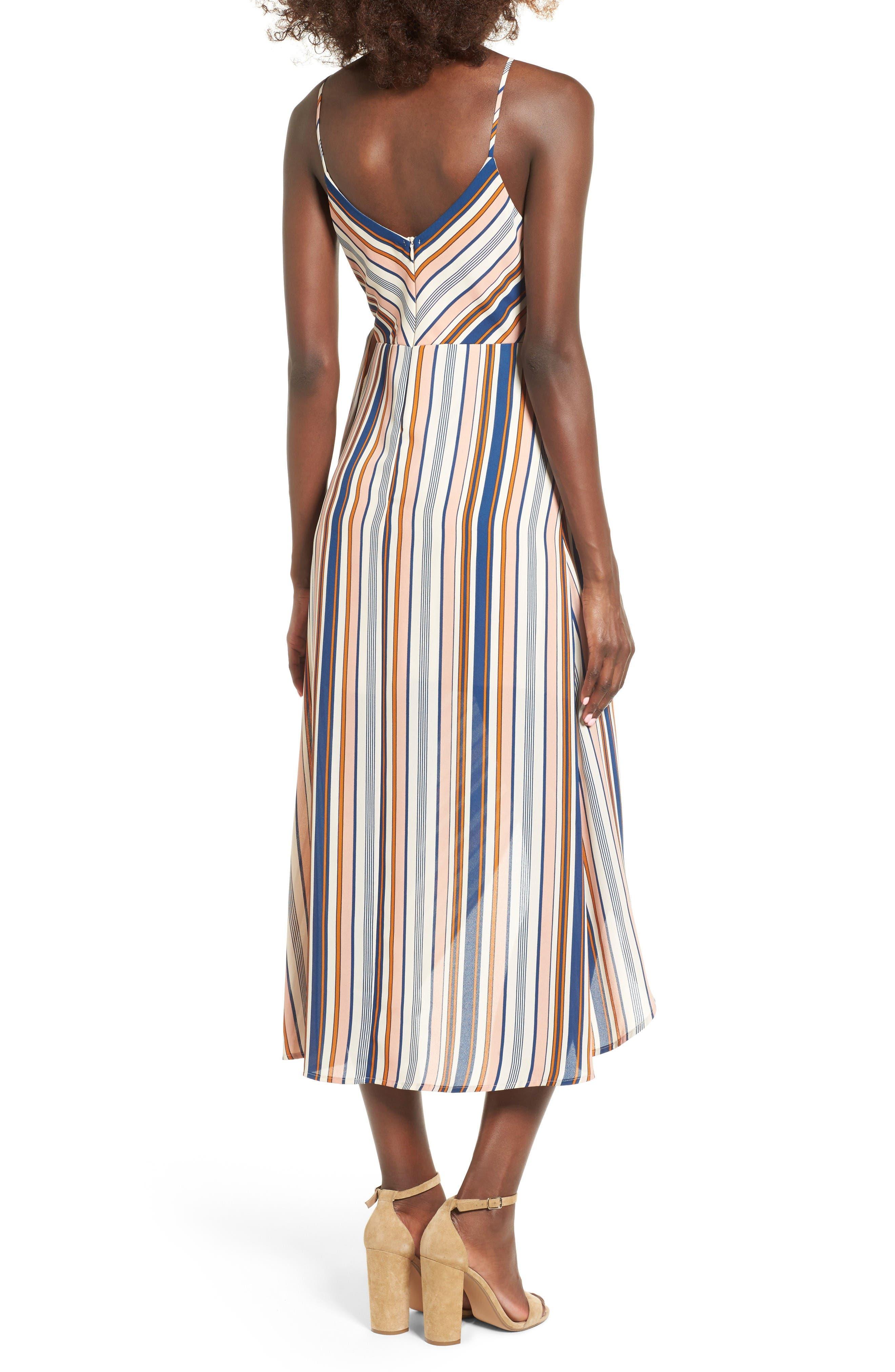 Alternate Image 2  - Dee Elly Stripe Surplice Dress