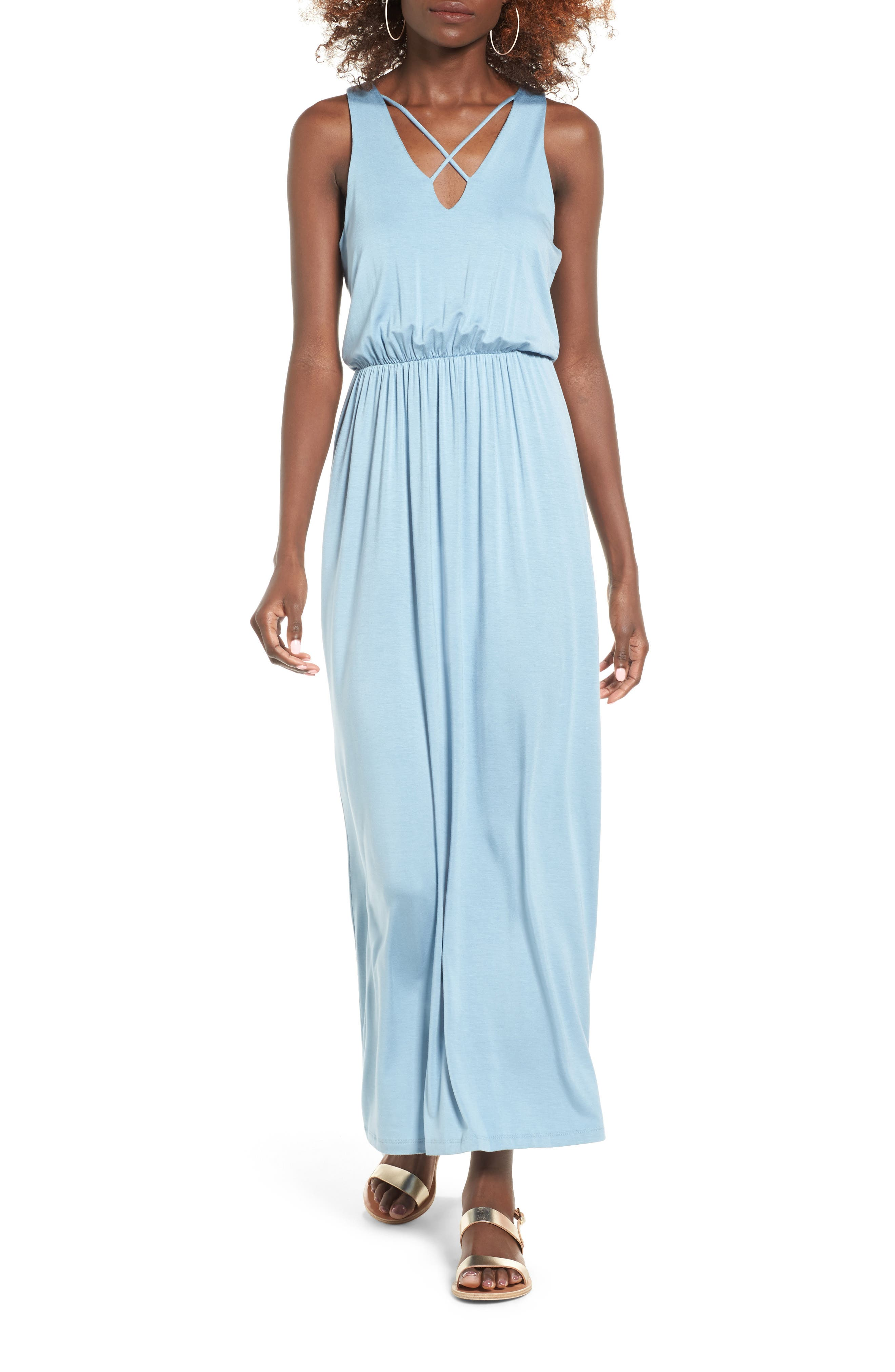 Main Image - Lush Cross Front Maxi Dress