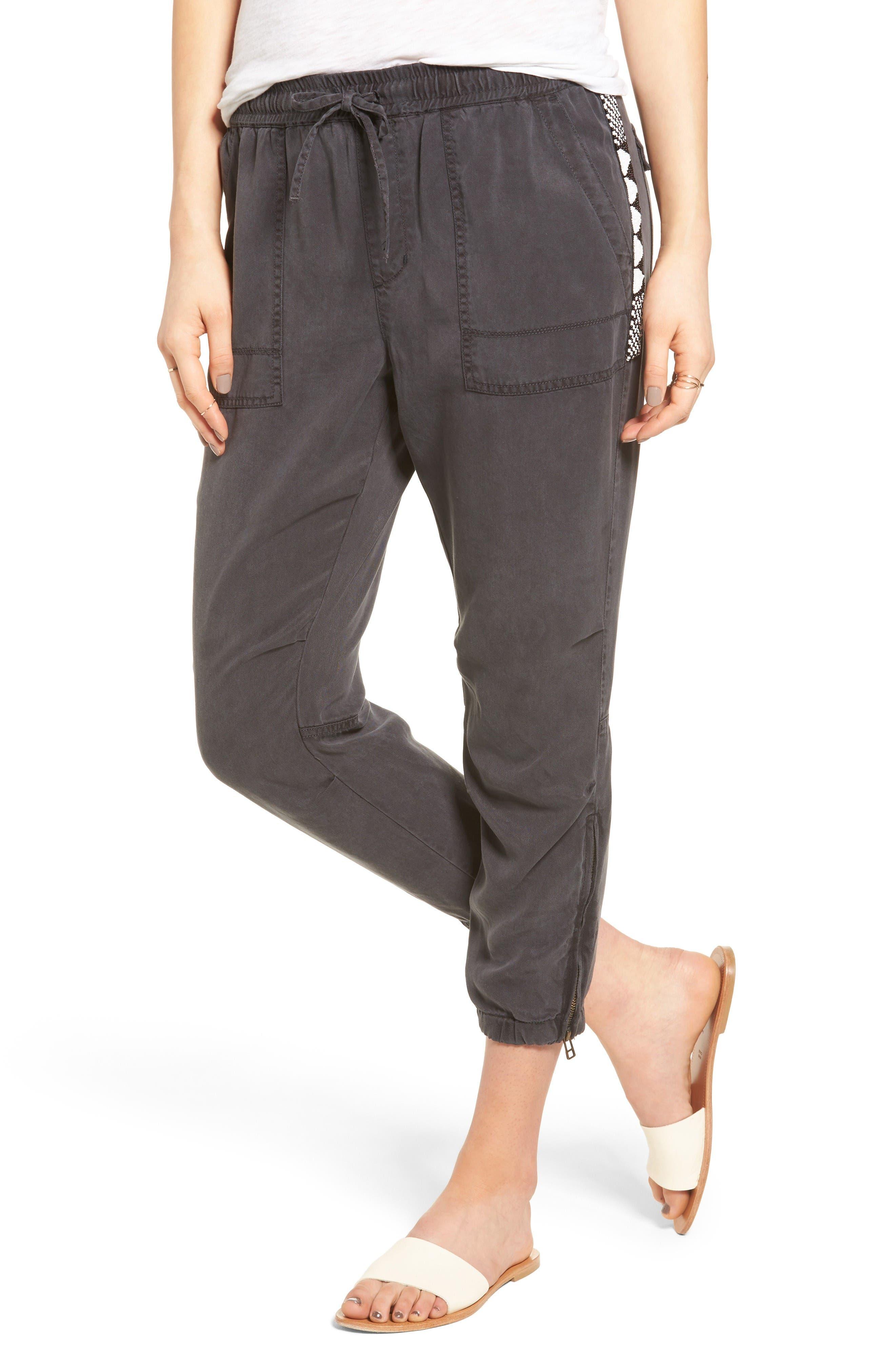 Pam & Gela Beaded Crop Pants