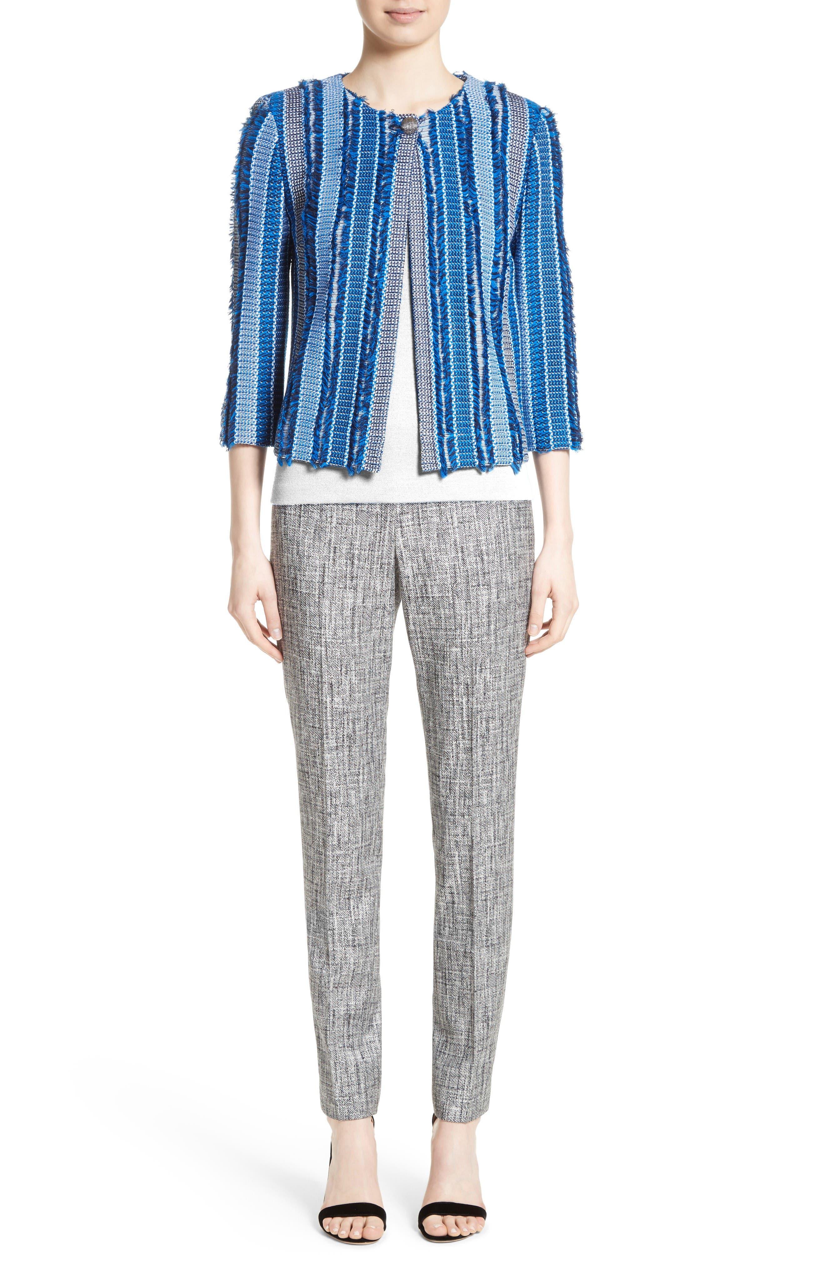Damik Fil Coupé Knit Jacket,                             Alternate thumbnail 7, color,                             Jaya Blue Multi
