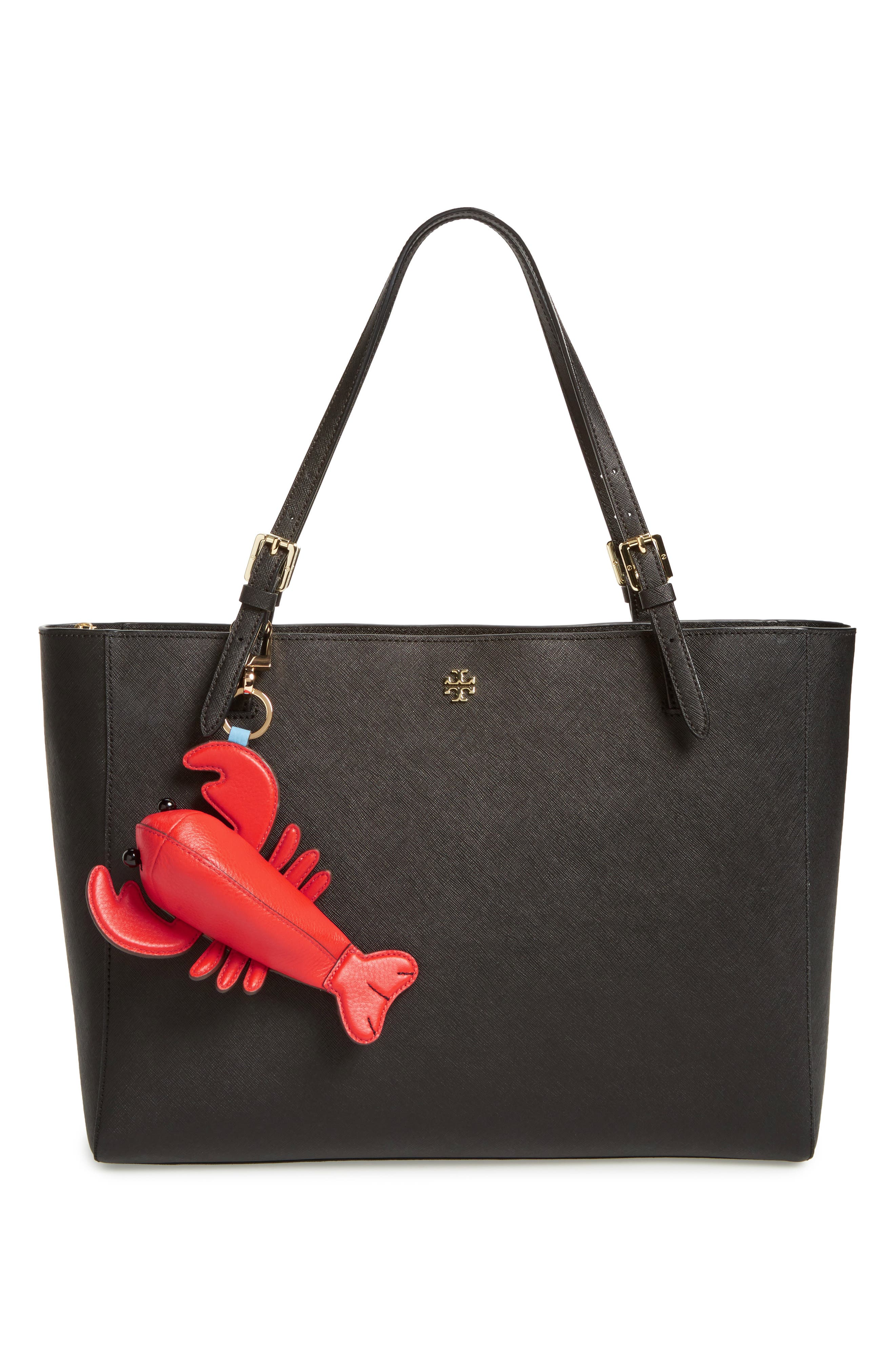 Larry Lobster Leather Bag Charm,                             Alternate thumbnail 2, color,                             Samba