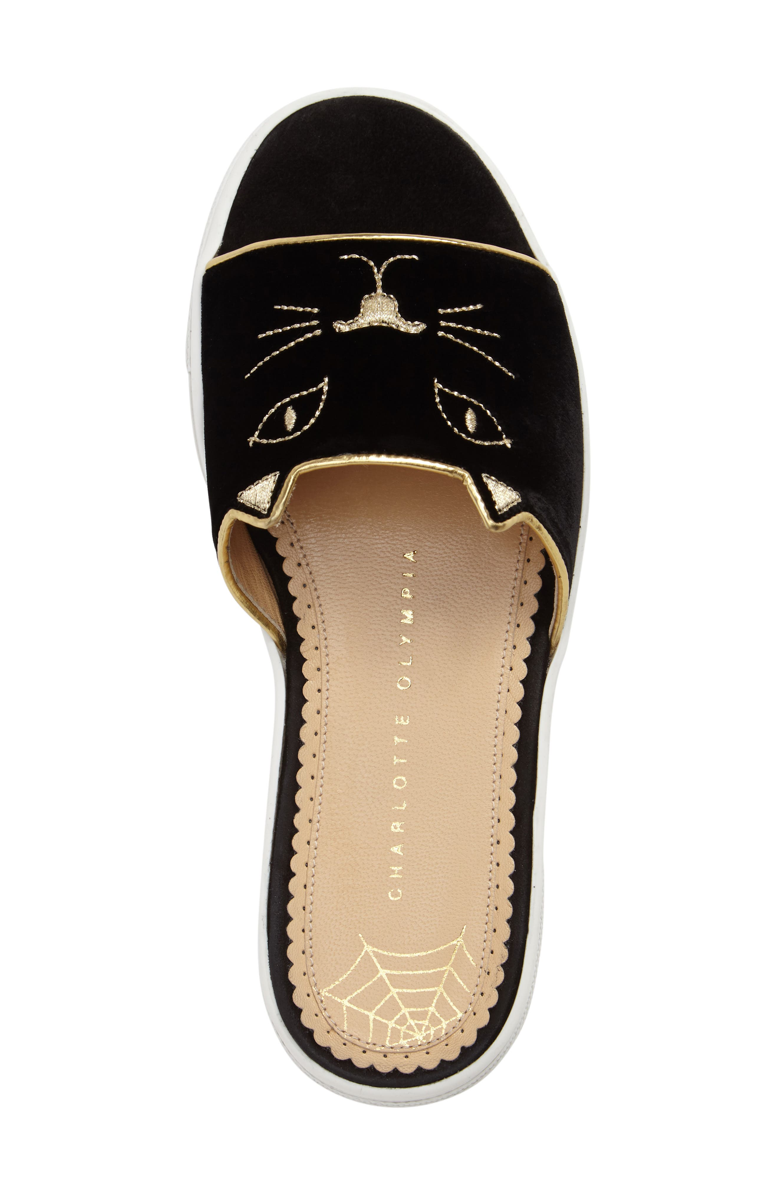 Alternate Image 5  - Charlotte Olympia Kitty Slide Sandal (Women)