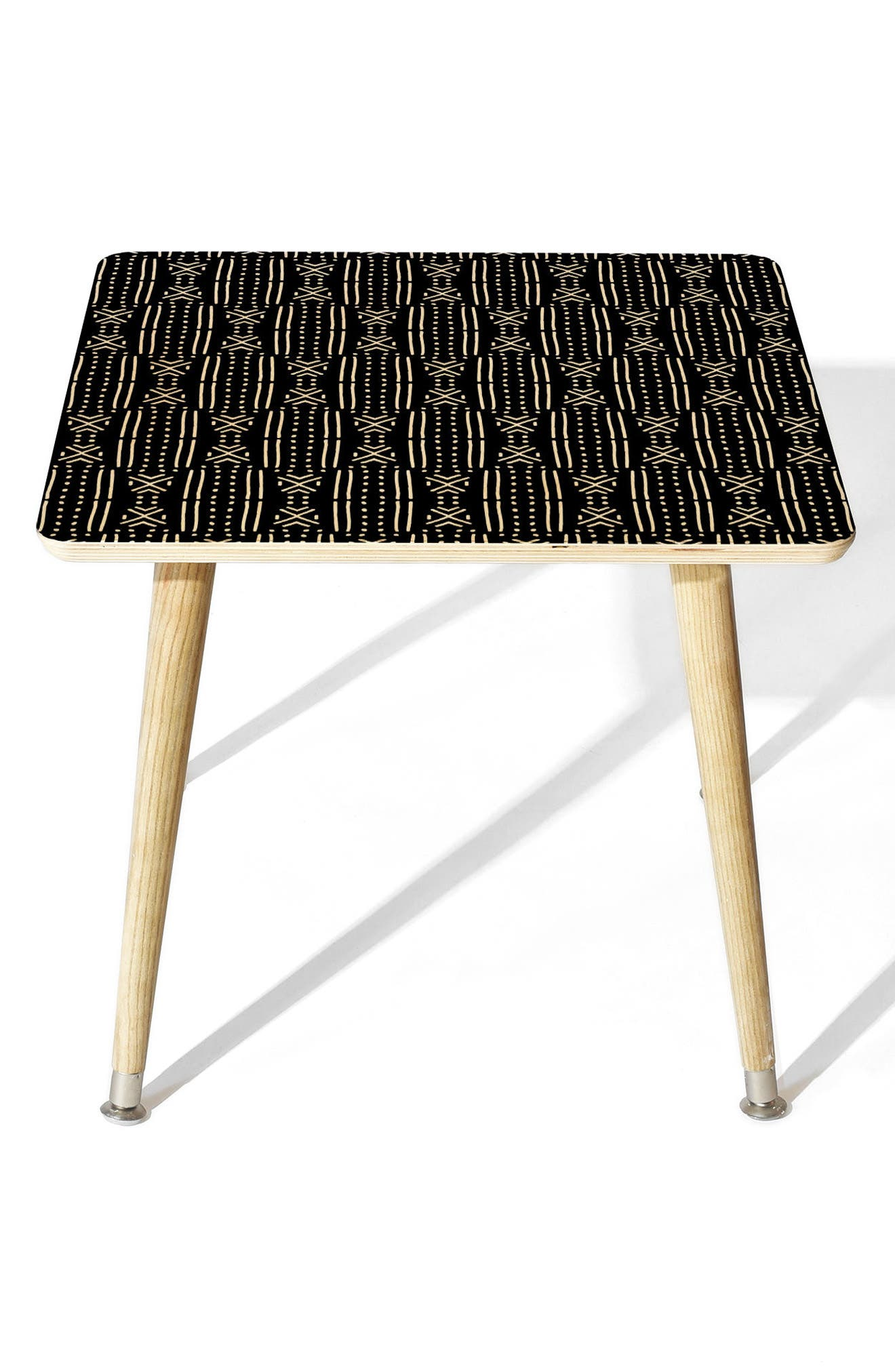 Mudcloth Side Table,                             Main thumbnail 1, color,                             Black