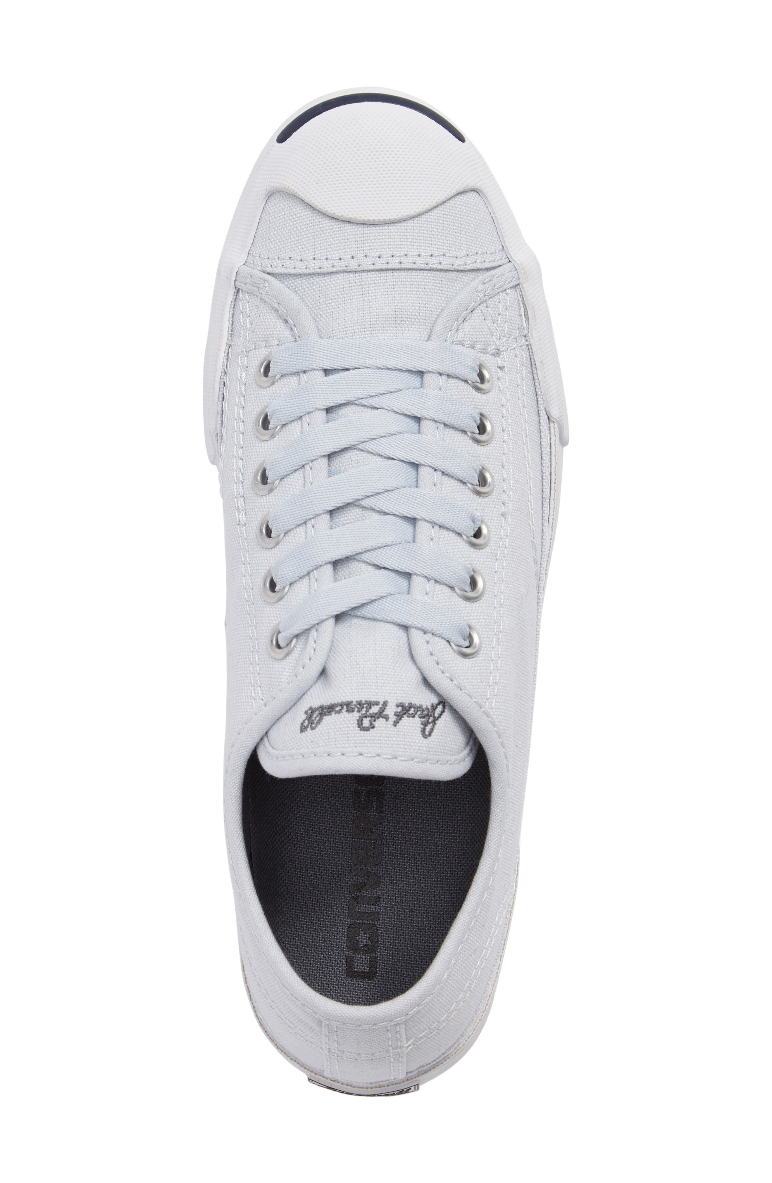 Jack Purcell Signature Ox Low Top Sneaker,                             Alternate thumbnail 4, color,                             Platinum