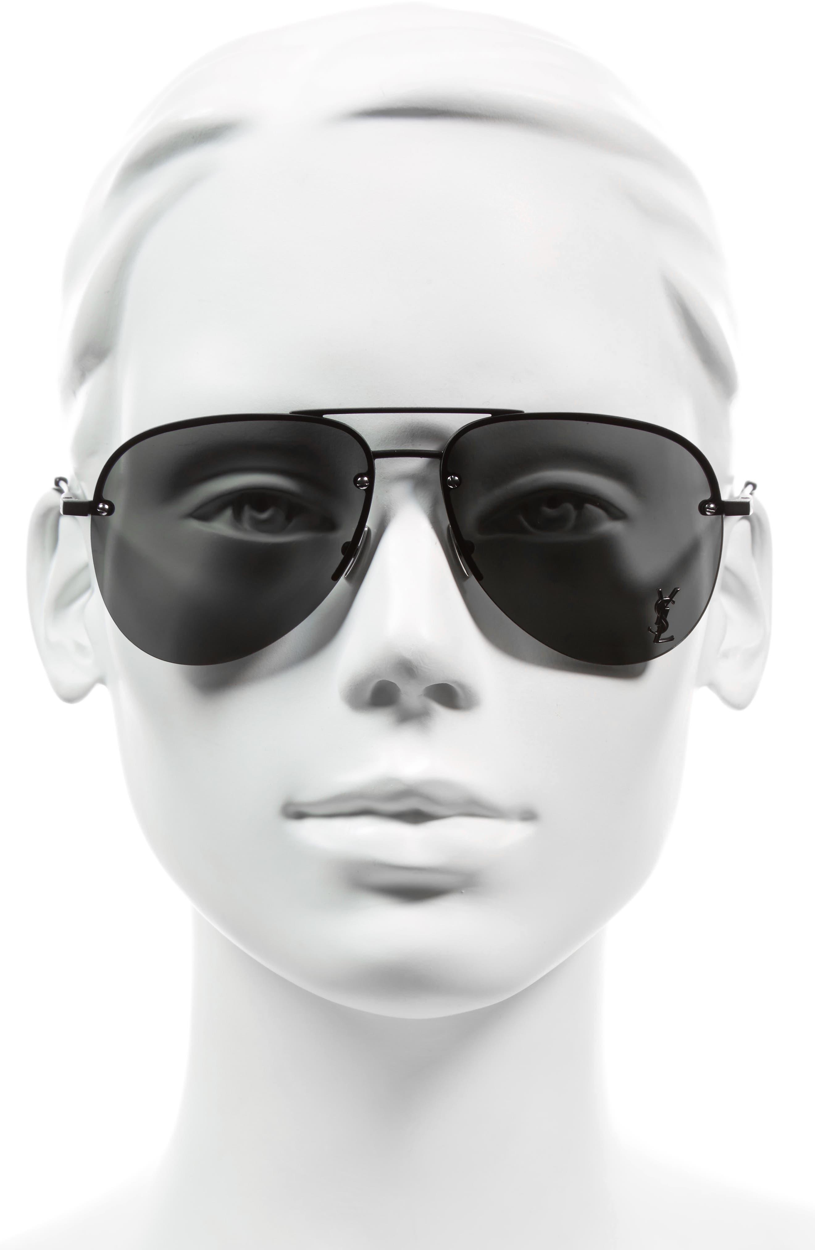 Alternate Image 2  - Saint Laurent 59mm Aviator Sunglasses