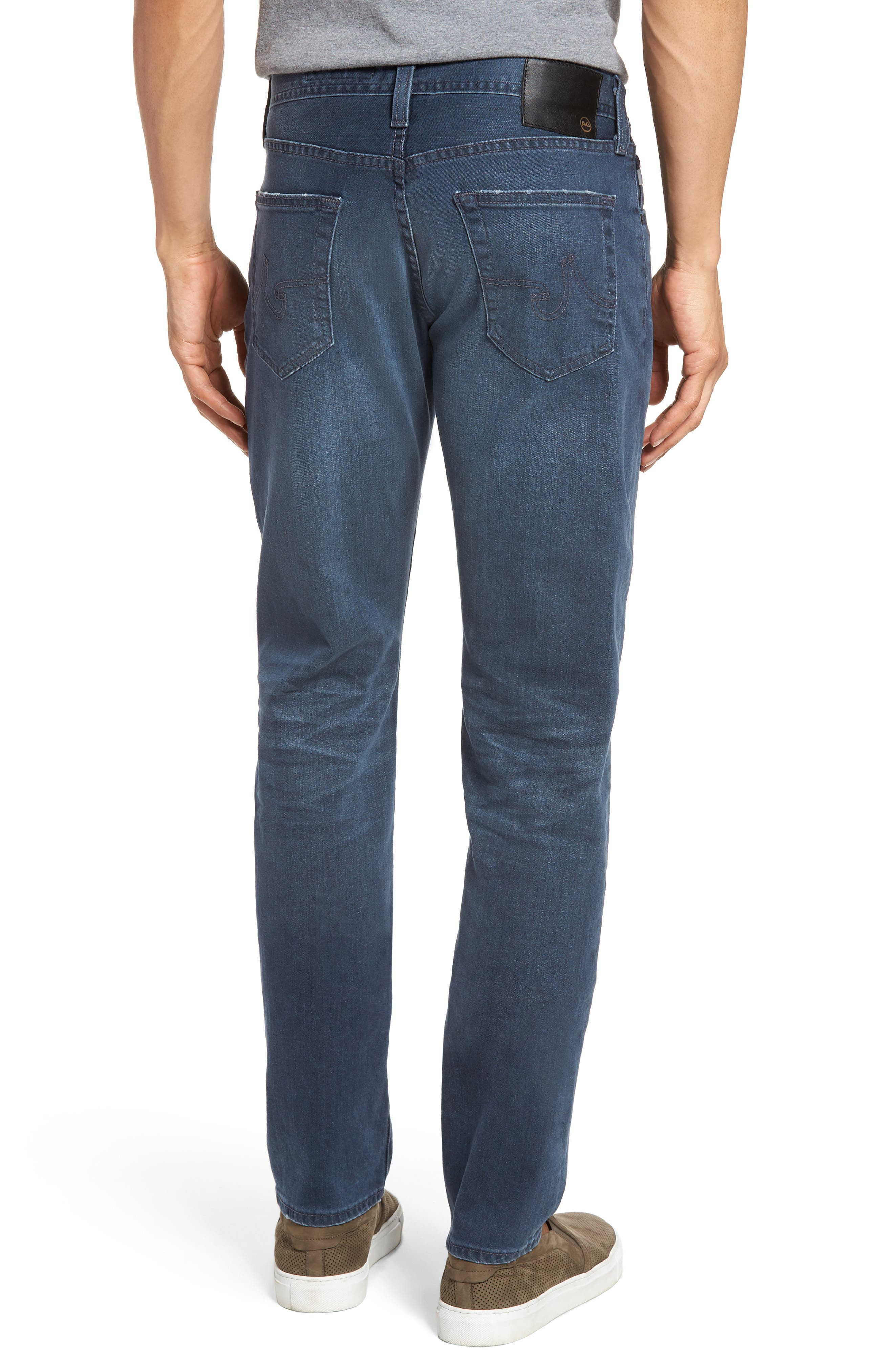 Graduate Slim Straight Leg Jeans,                             Alternate thumbnail 2, color,                             7 Years Blue Peril
