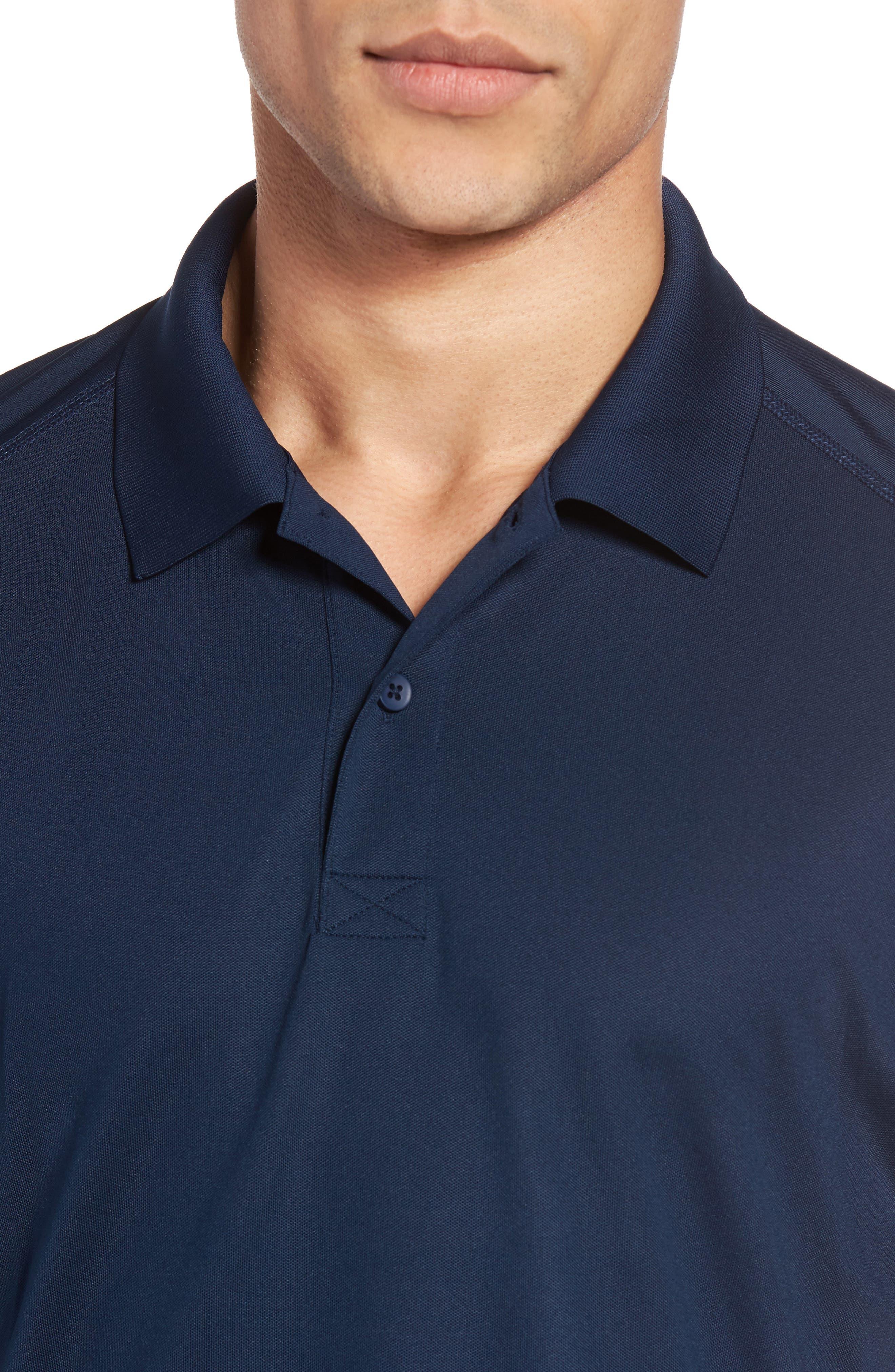 M-Flex Flatiron Slim Fit Golf Polo,                             Alternate thumbnail 4, color,                             Navy