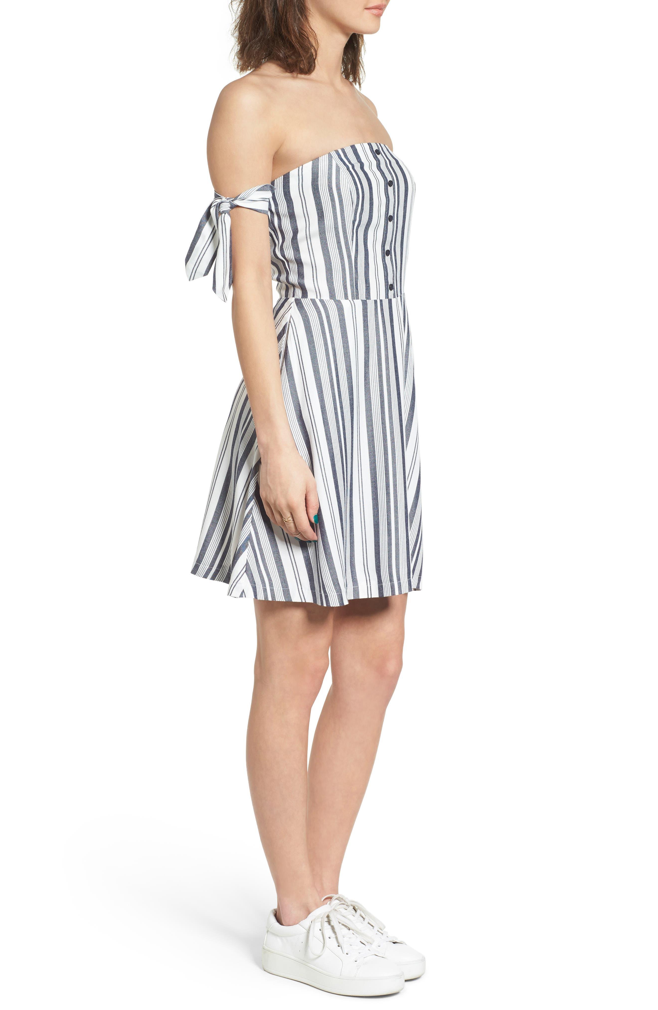 Alternate Image 3  - Love, Fire Tie Sleeve Off the Shoulder Dress