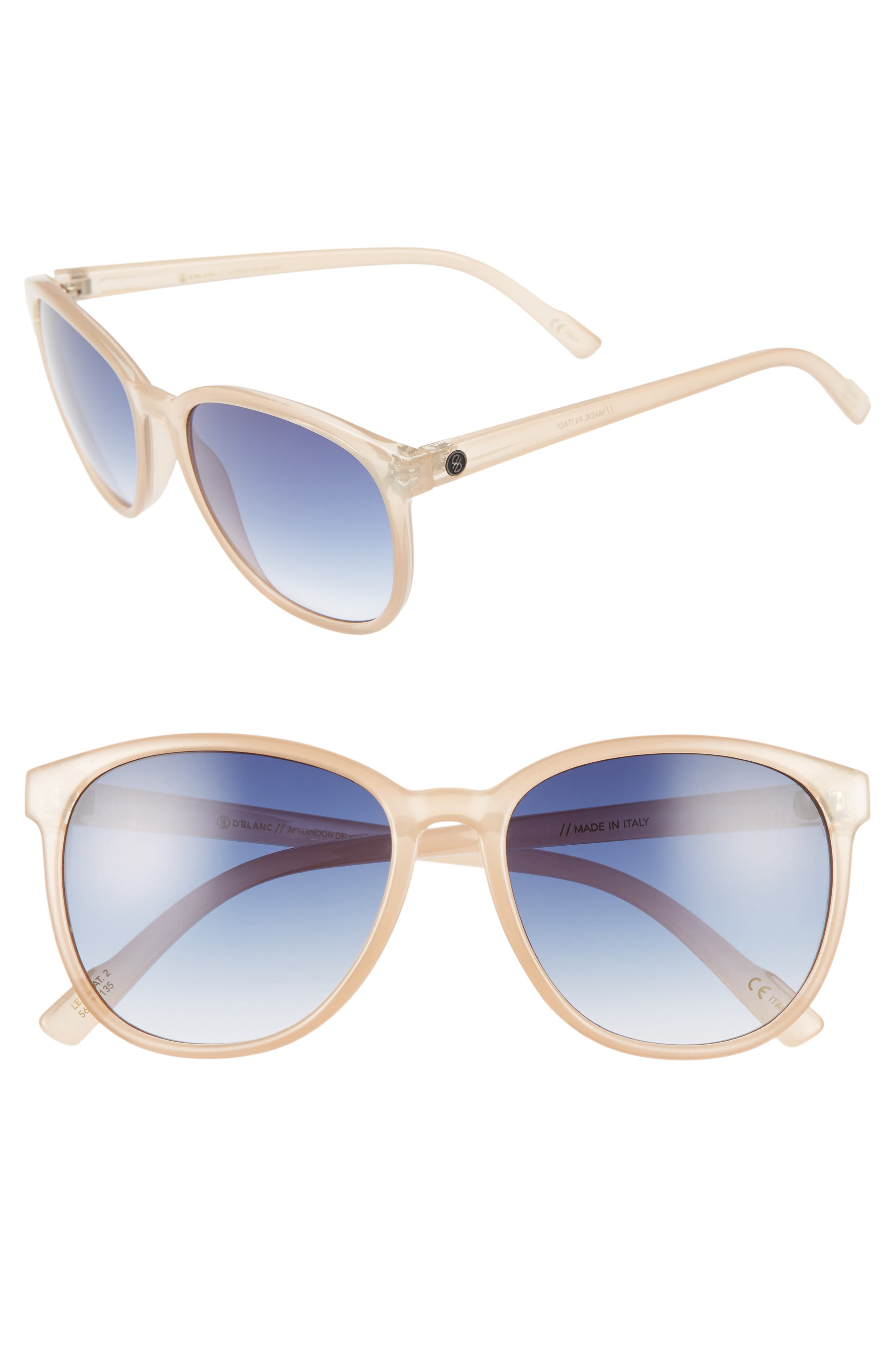 Alternate Image 1 Selected - D'BLANC Afternoon Delight 56mm Gradient Lens Sunglasses