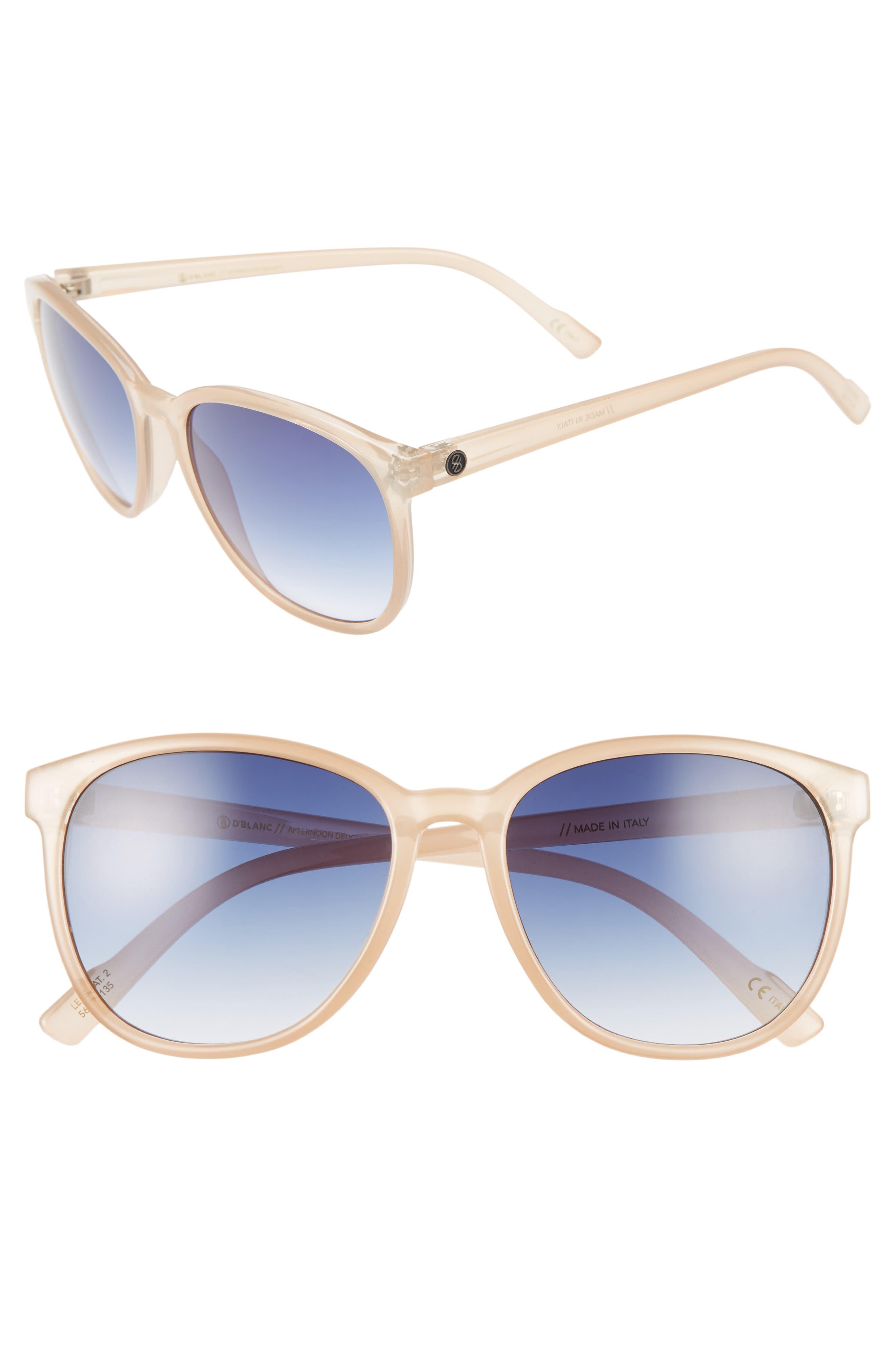D'BLANC Afternoon Delight 56mm Gradient Lens Sunglasses,                         Main,                         color, Spumante Opal/ Gradient