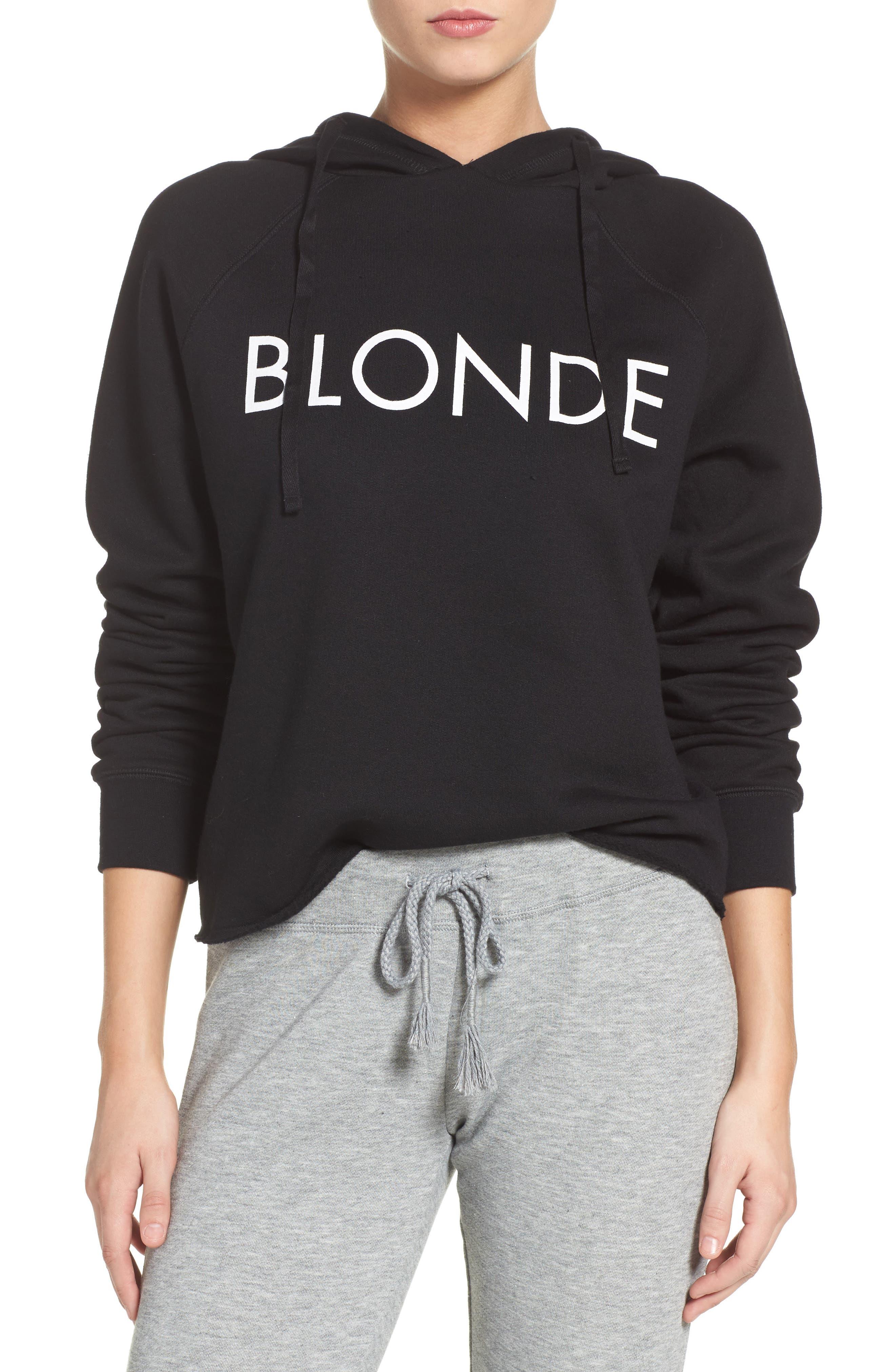 Blonde Lounge Hoodie,                         Main,                         color, Black