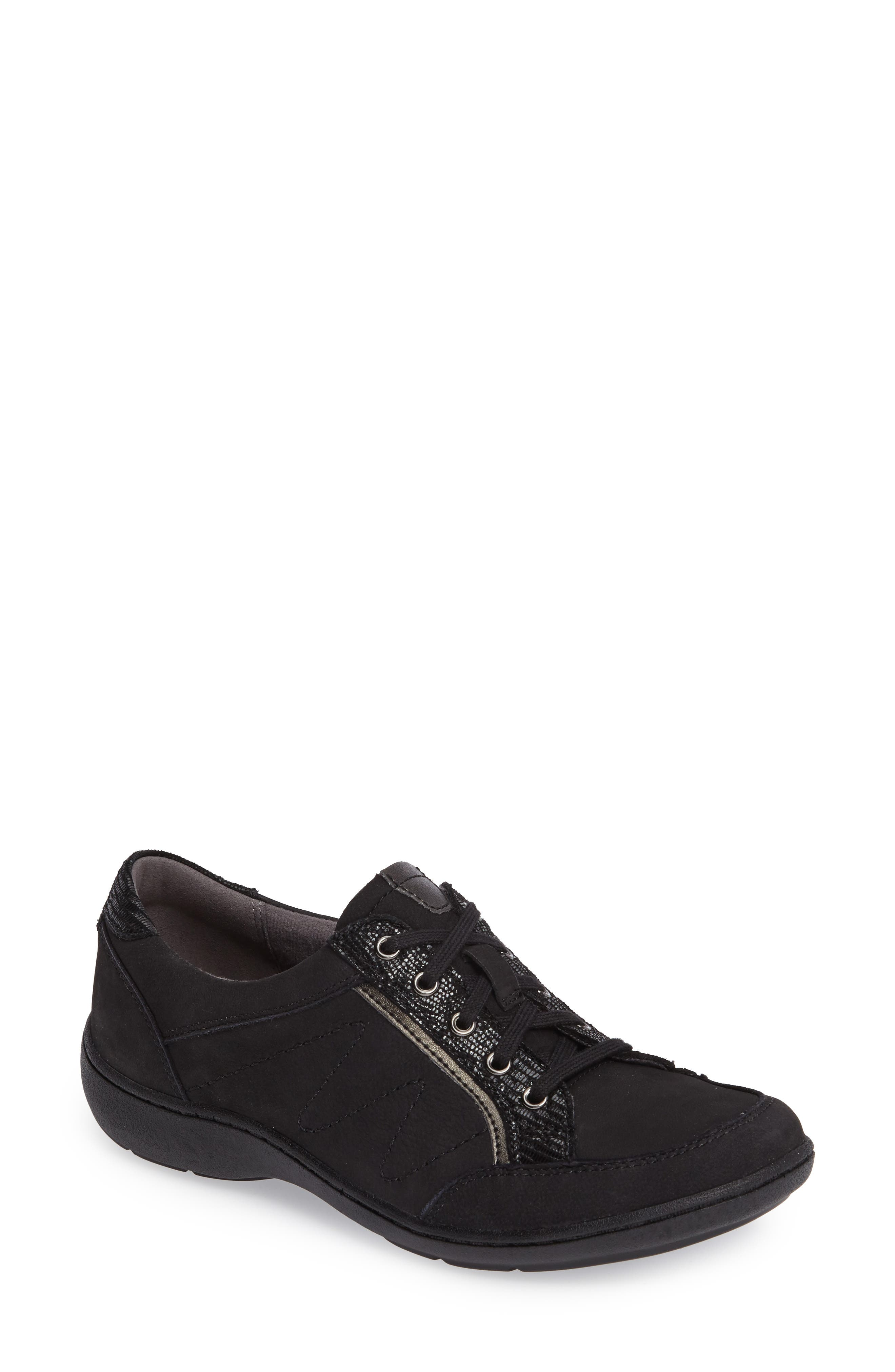 Bromly Sneaker,                         Main,                         color, Black Fabric