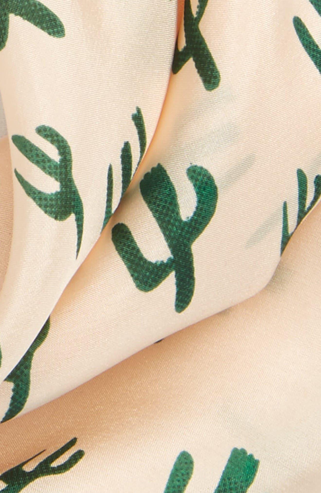Alternate Image 3  - Sole Society Cactus Silk Scarf