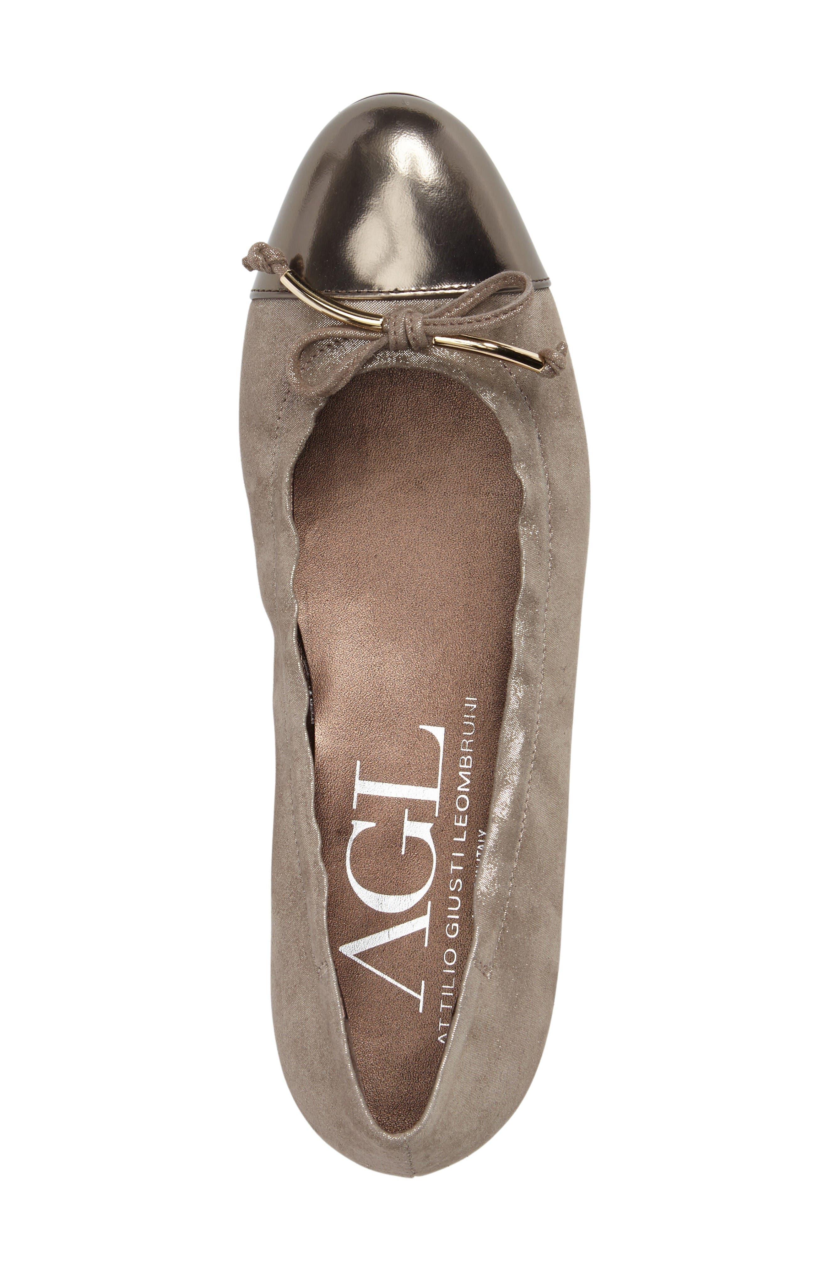 Alternate Image 5  - AGL Cap Toe Flat (Women)