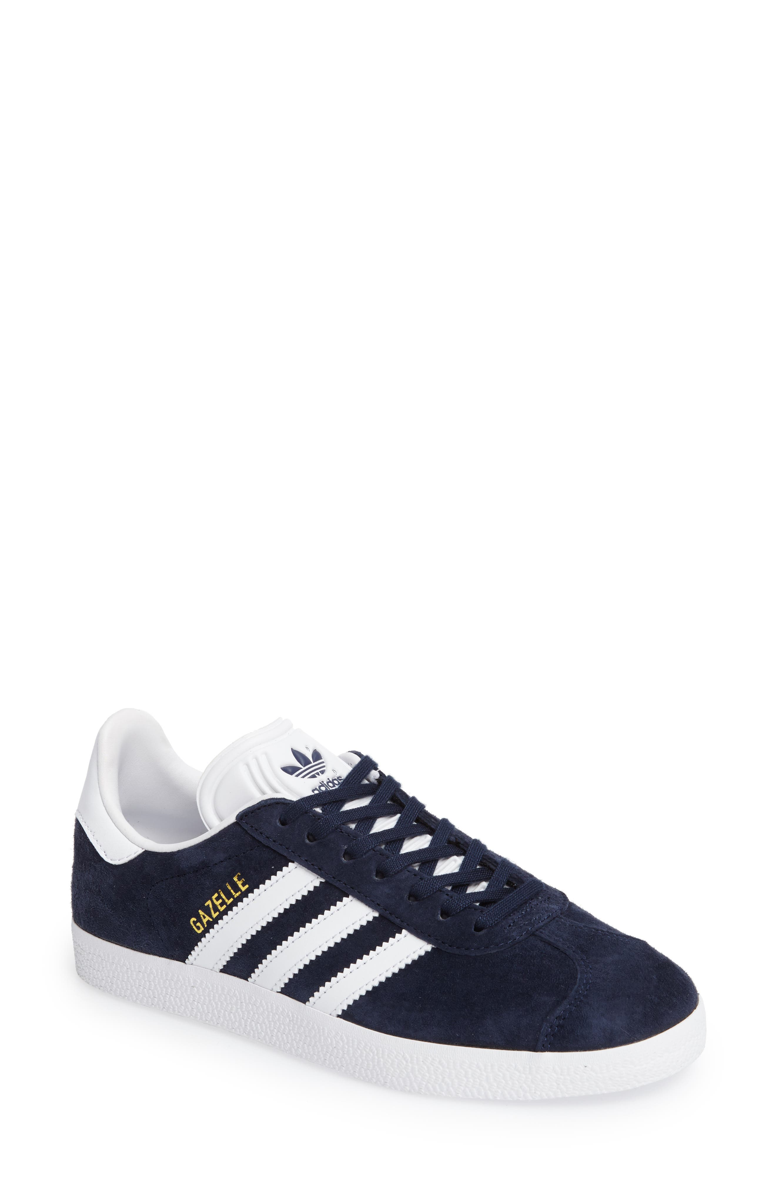 Gazelle Sneaker,                         Main,                         color, Navy/ White/ Gold Metallic
