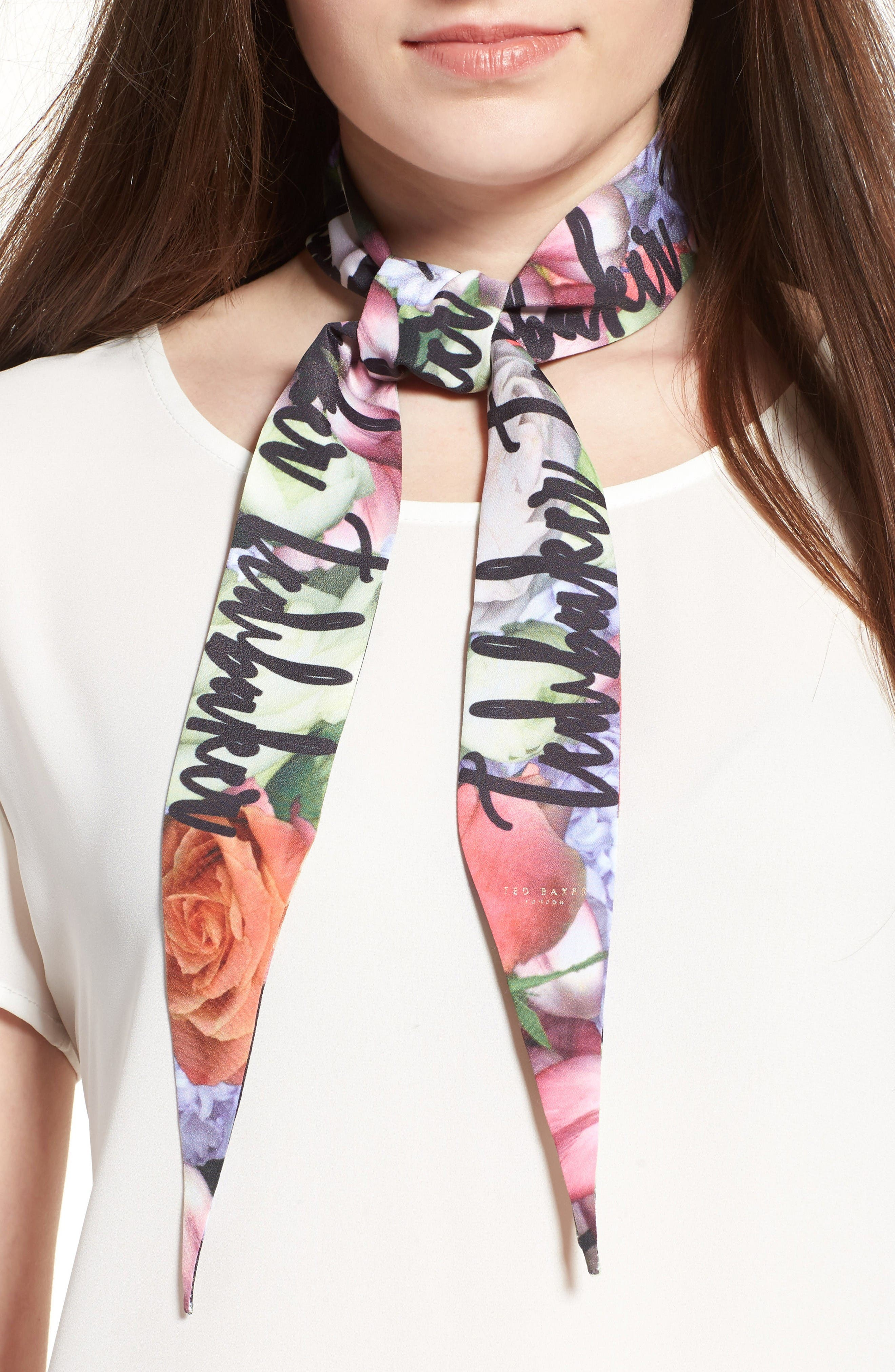 Ted Baker London Kensington Skinny Scarf