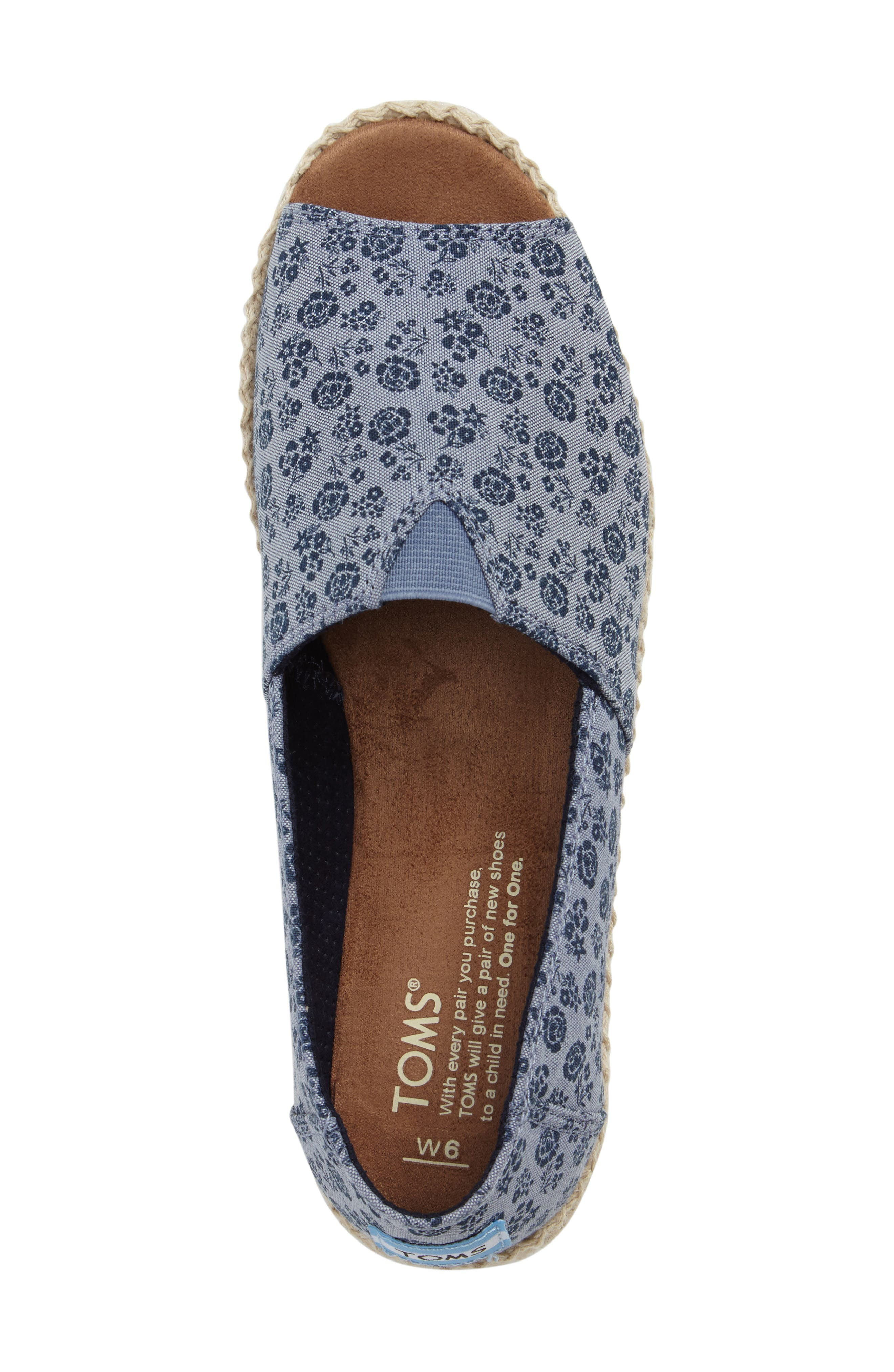Alternate Image 5  - TOMS Open Toe Espadrille Slip-On (Women)