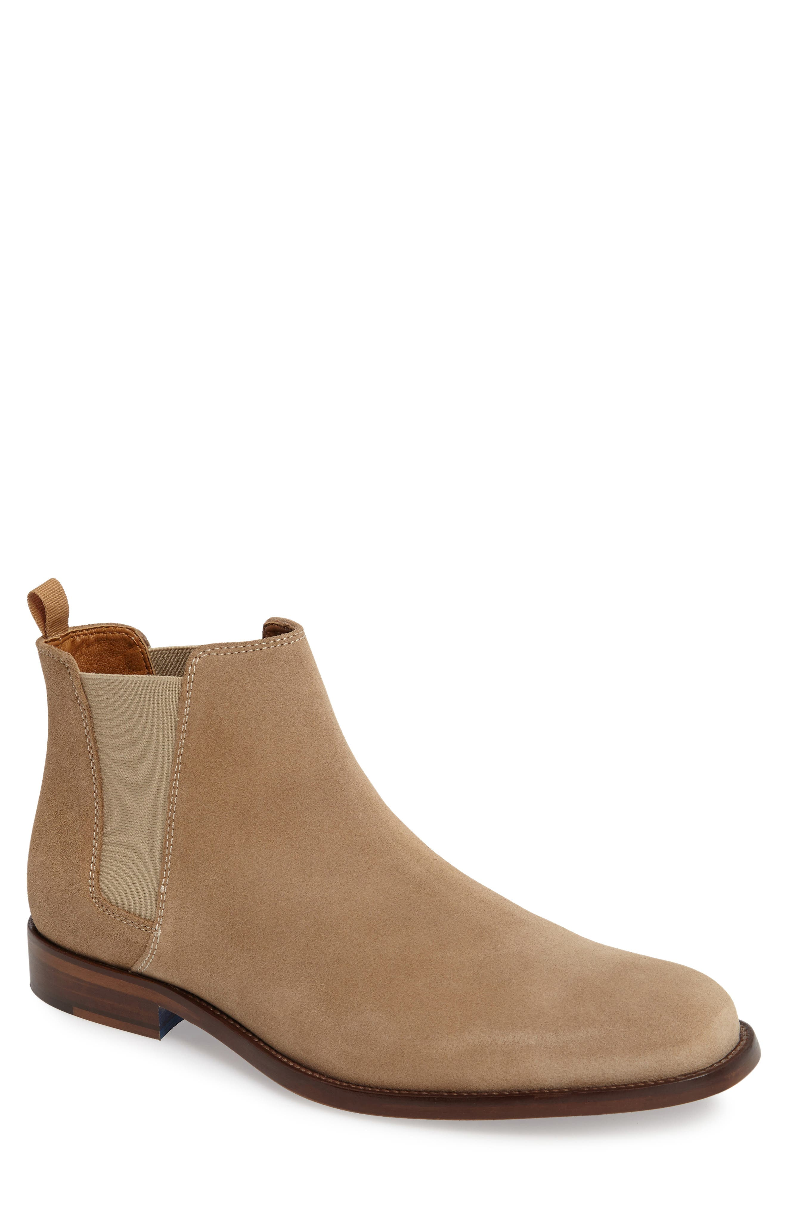 Vianello Chelsea Boot,                         Main,                         color, Beige Suede