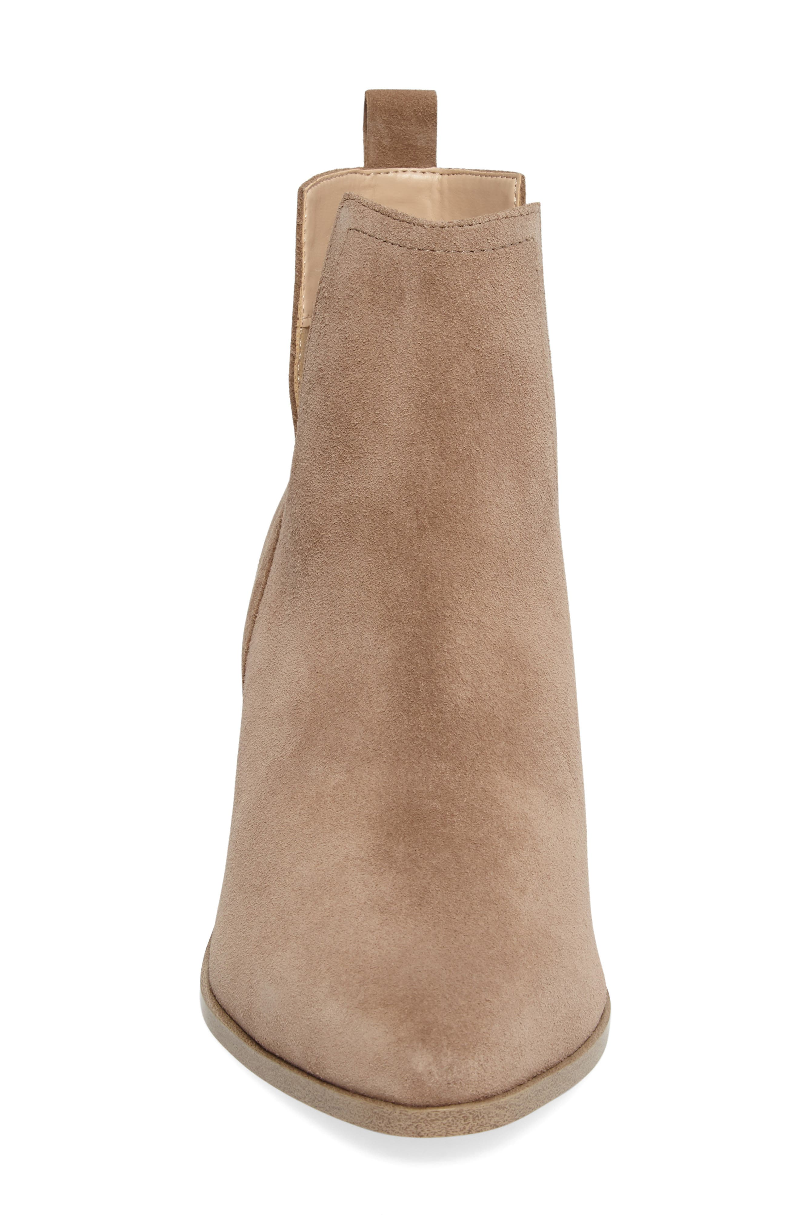 Madrid Bootie,                             Alternate thumbnail 4, color,                             Sand Suede