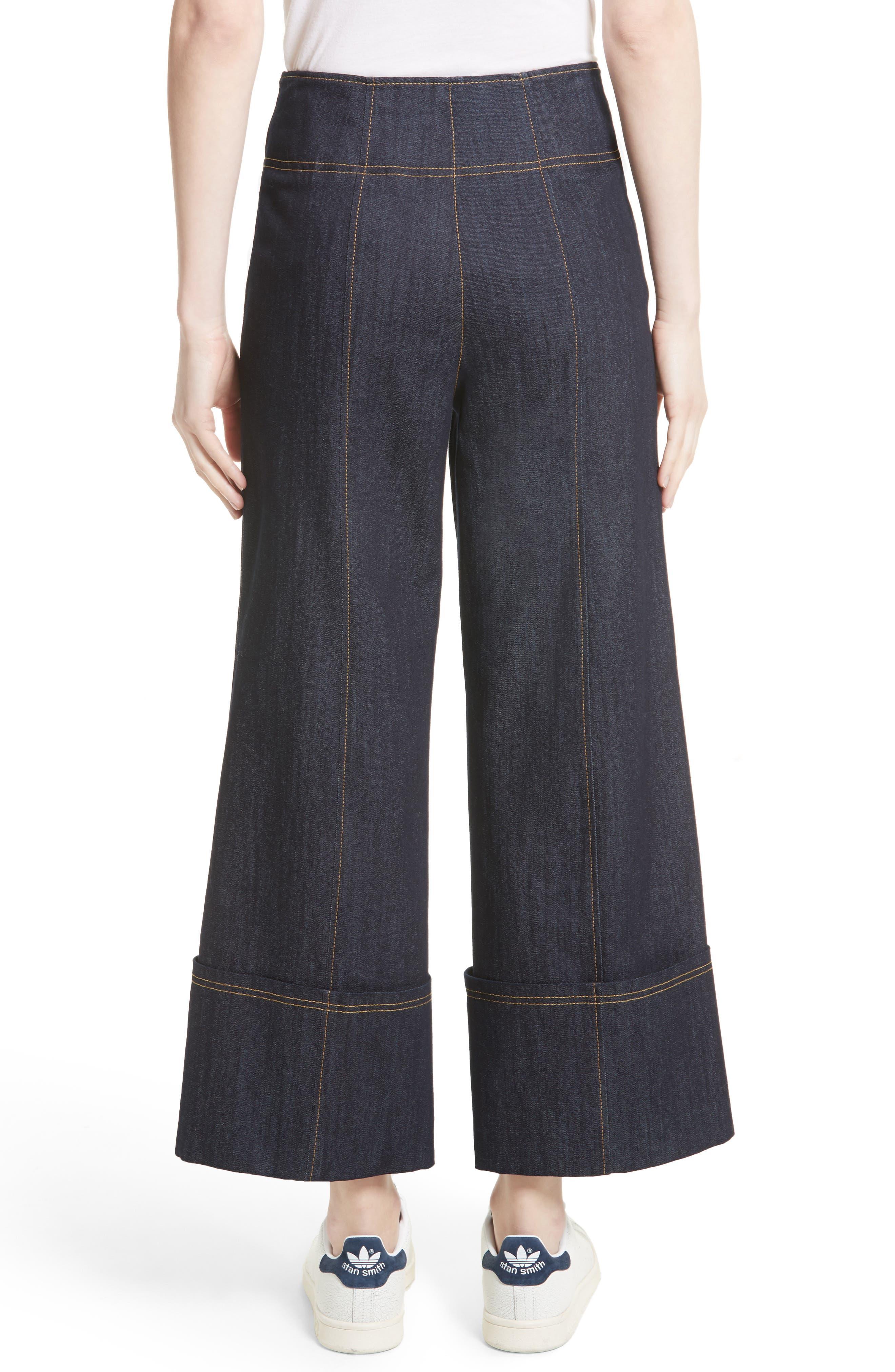 Marla Cuff Jeans,                             Alternate thumbnail 3, color,                             Indigo